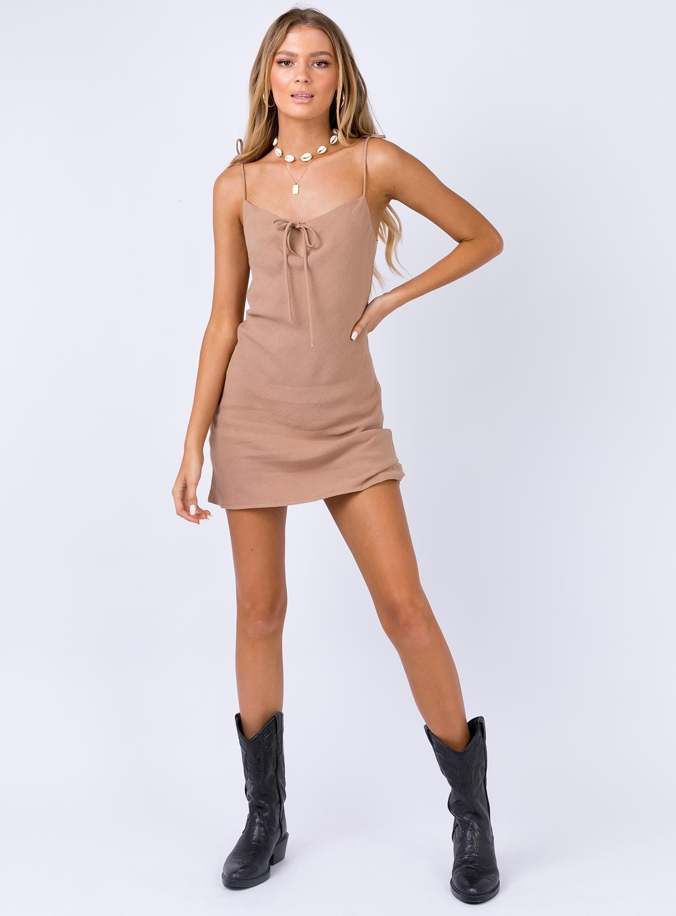 Innocence Mini Dress Brown