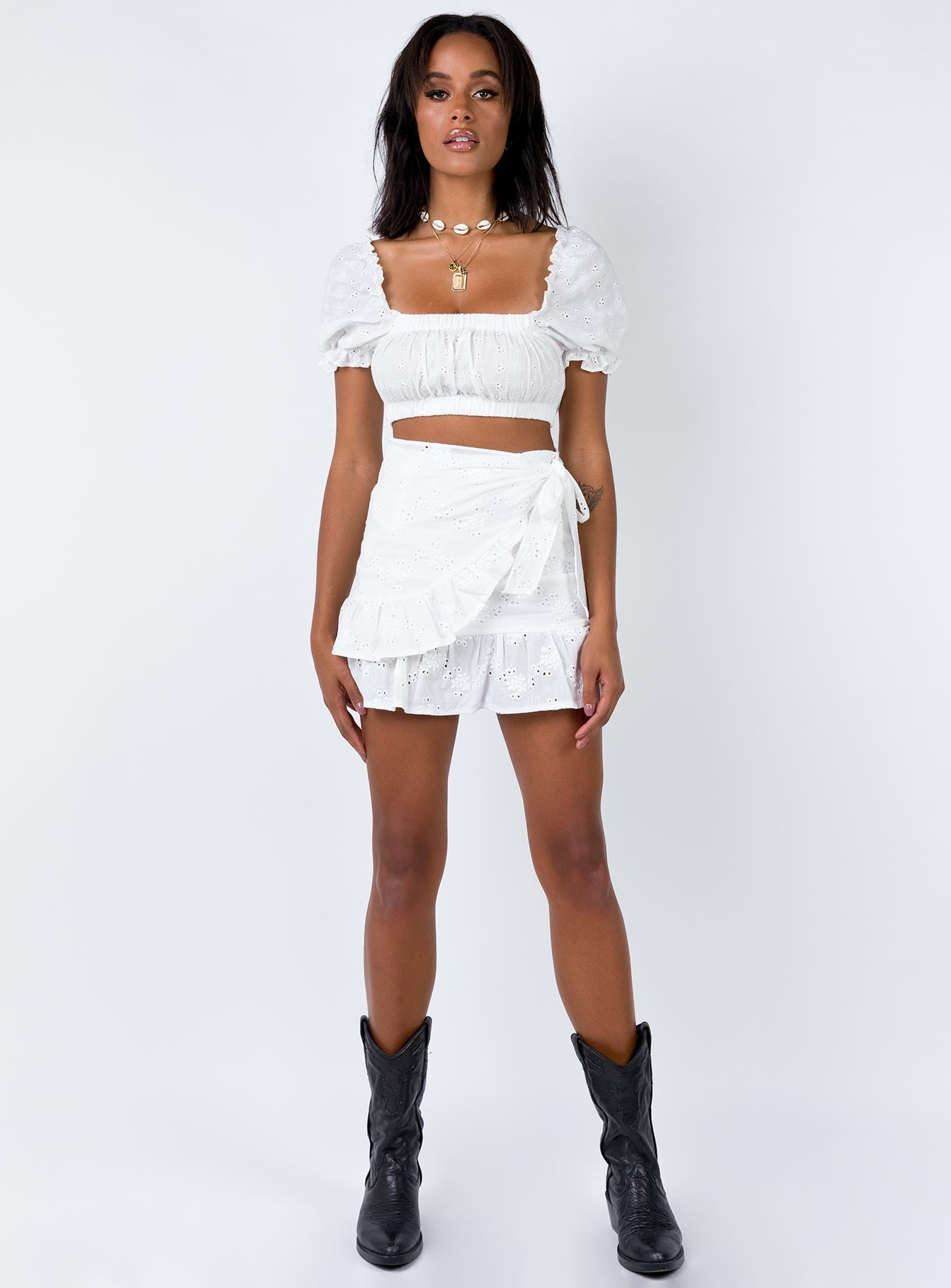 Rafina Mini Skirt White