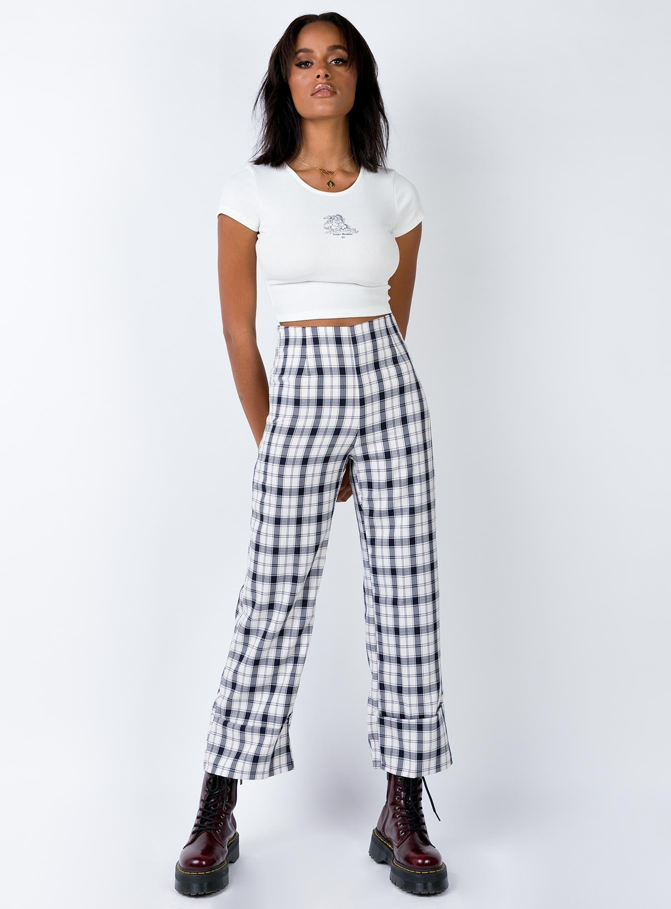 Euros Pants Black/White