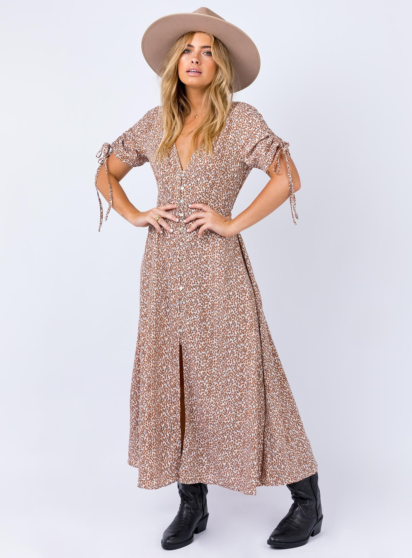 The Oscar Maxi Dress Peach