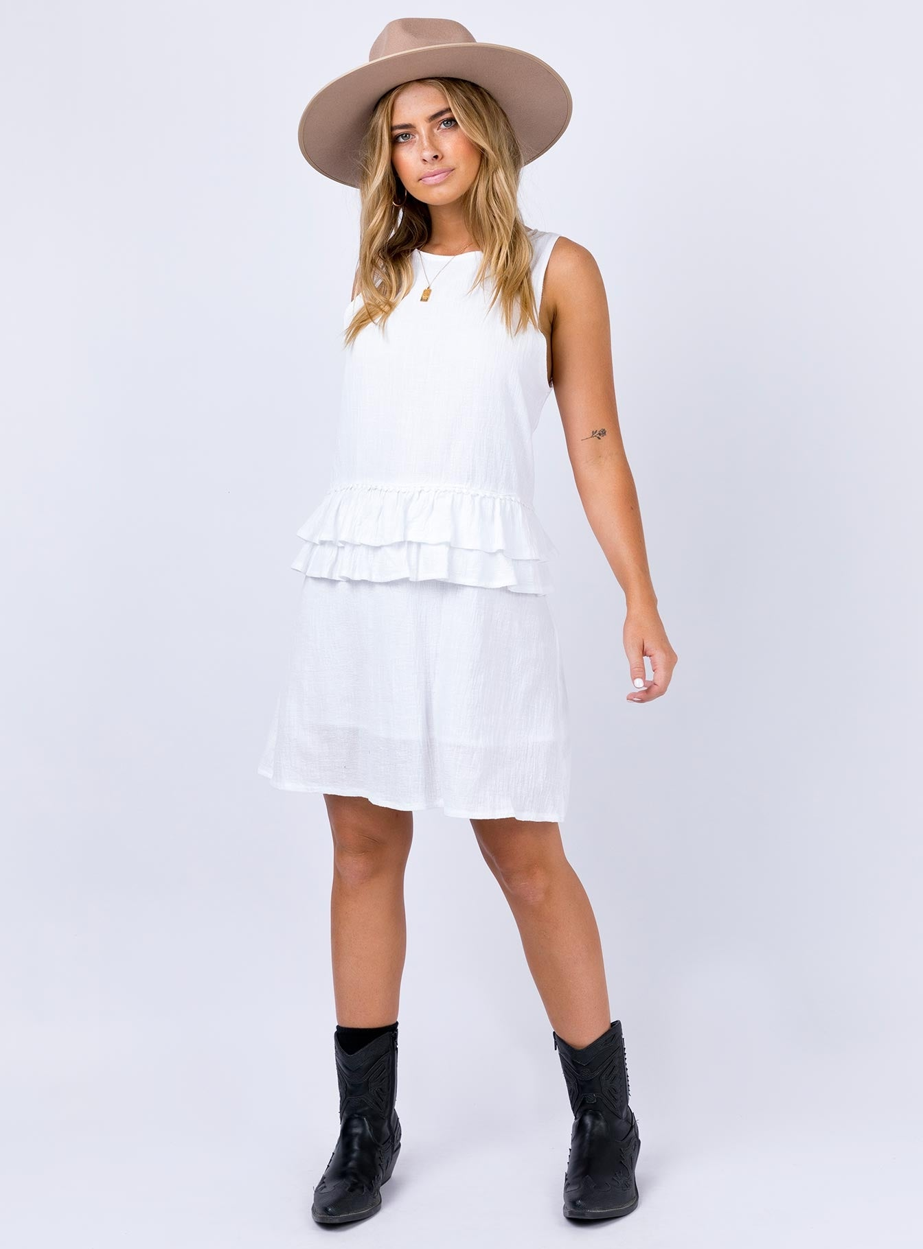Jubal Mini Dress White
