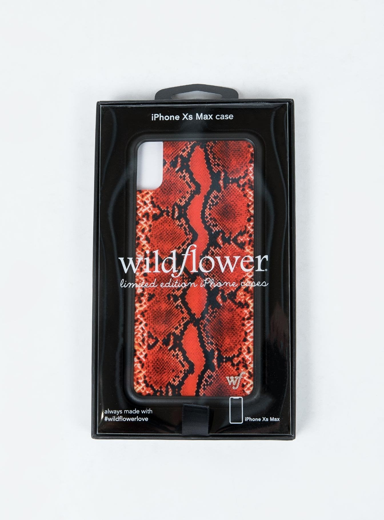 Wildflower Red Snakeskin iPhone XS Max Plus Case