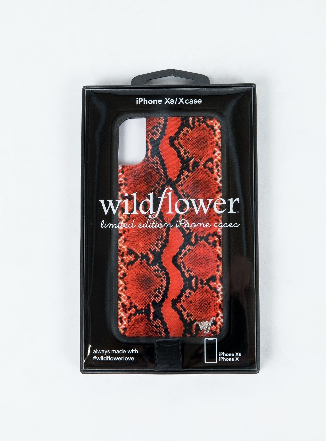 Wildflower Red Snakeskin iPhone X/XS Plus Case