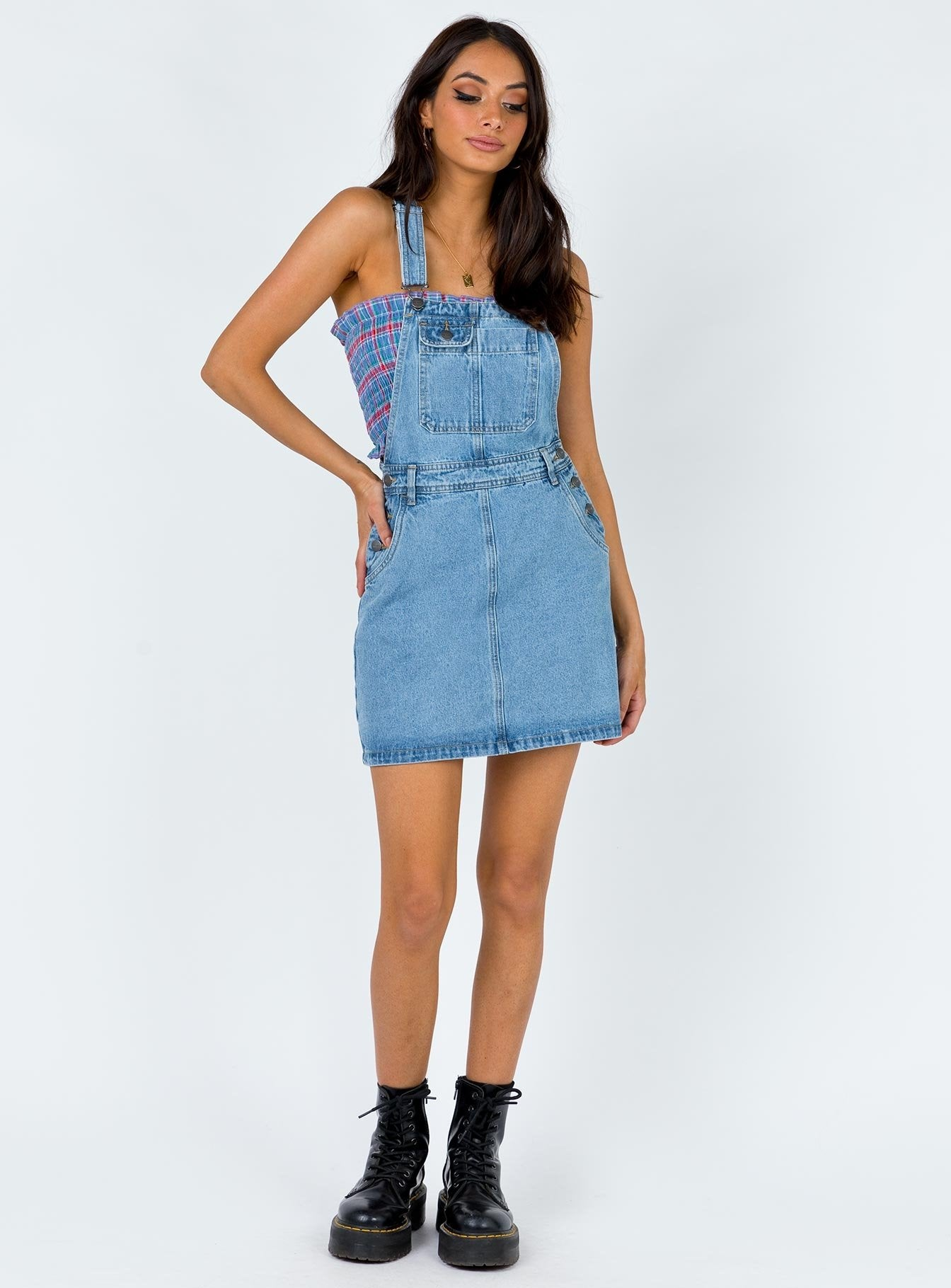 Afends Olivia Overall Dress Classic Blue