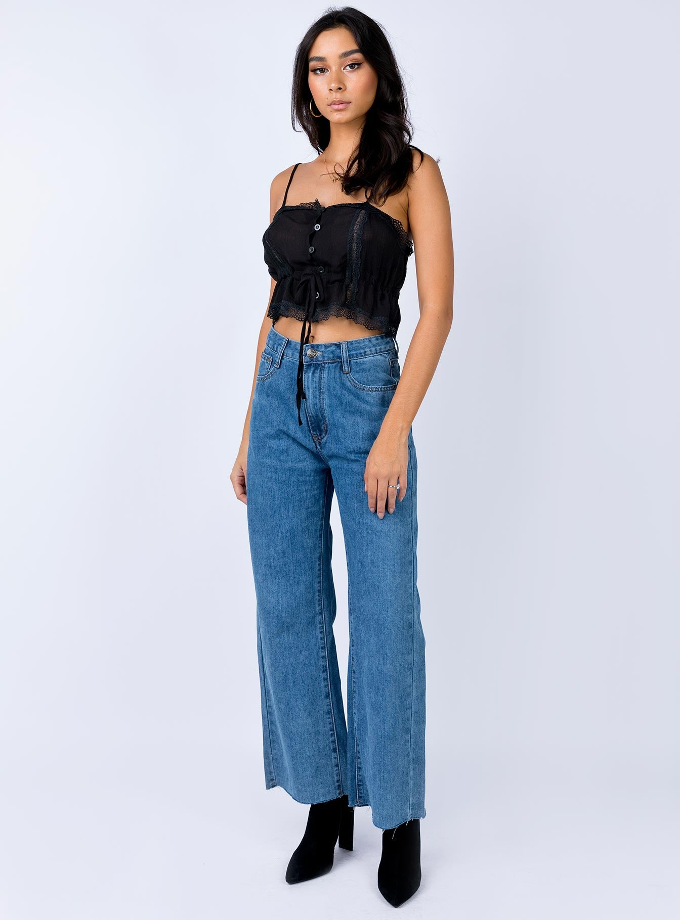 Cece Hammer Baggy Jeans Mid Blue