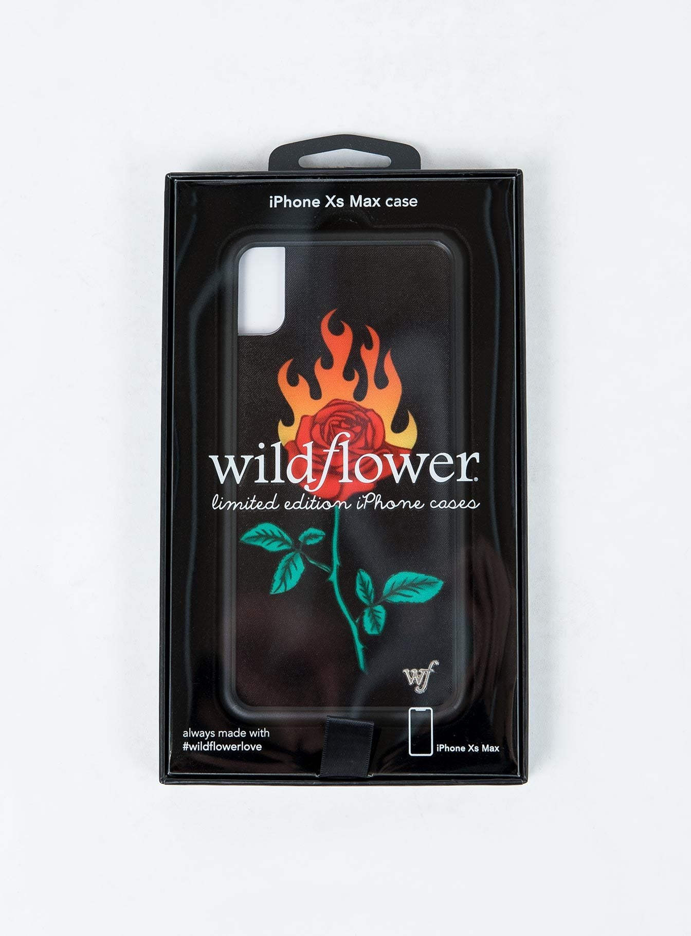 Wildflower Burning Love iPhone XS Max Case