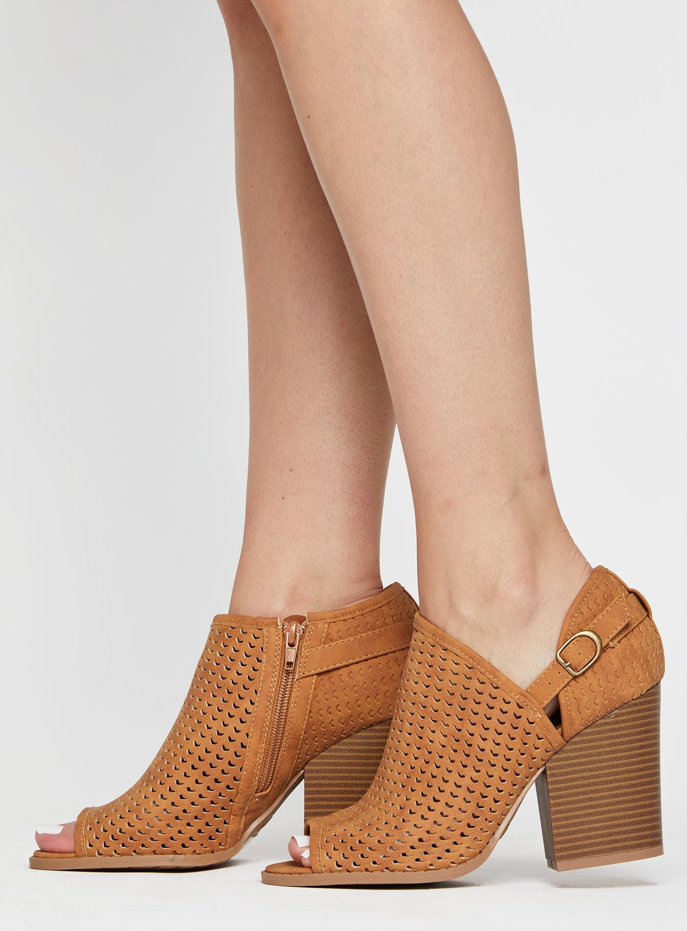 Barnes Cut Out Bootie Camel