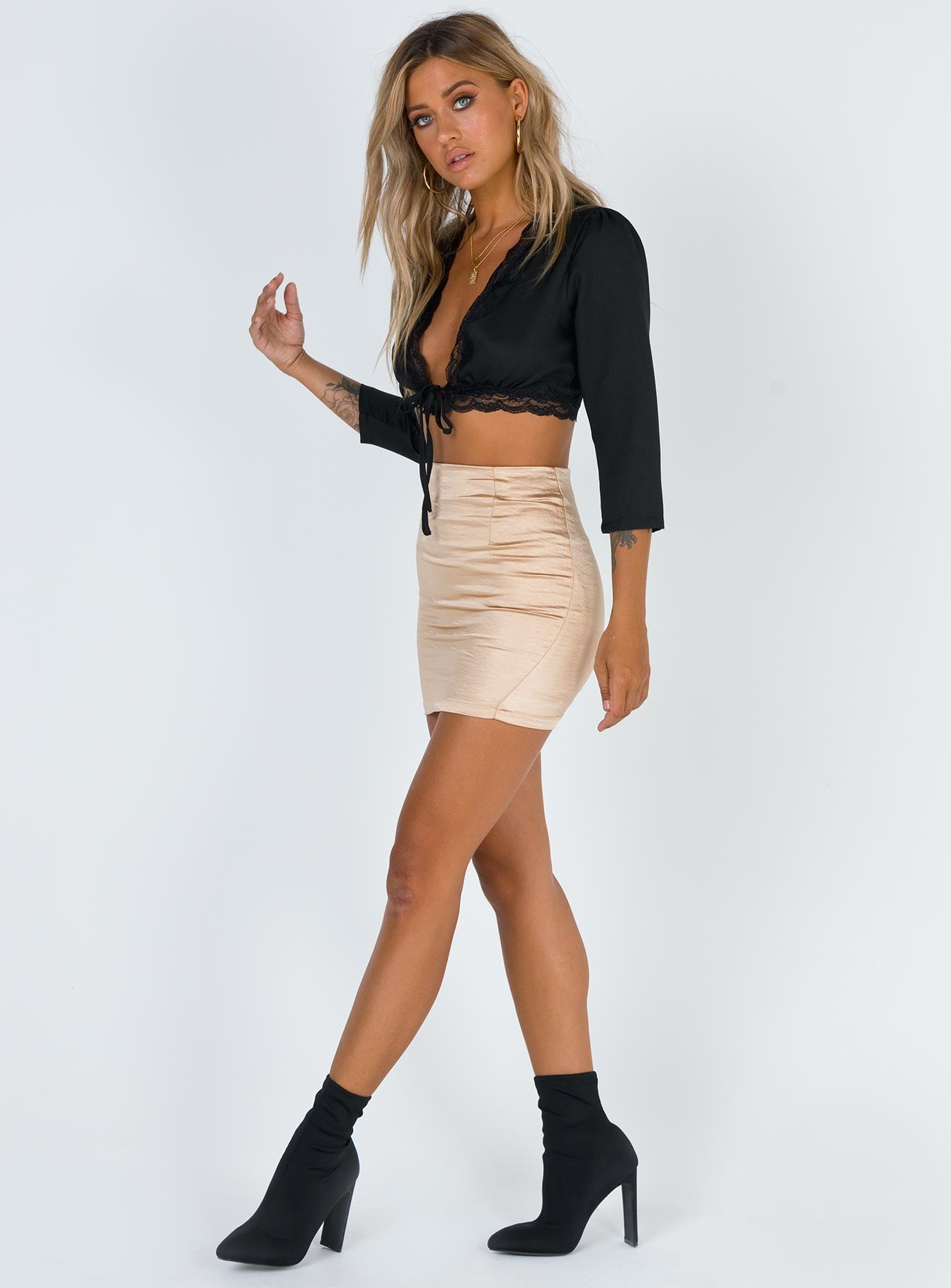 Zena Crop Top Black