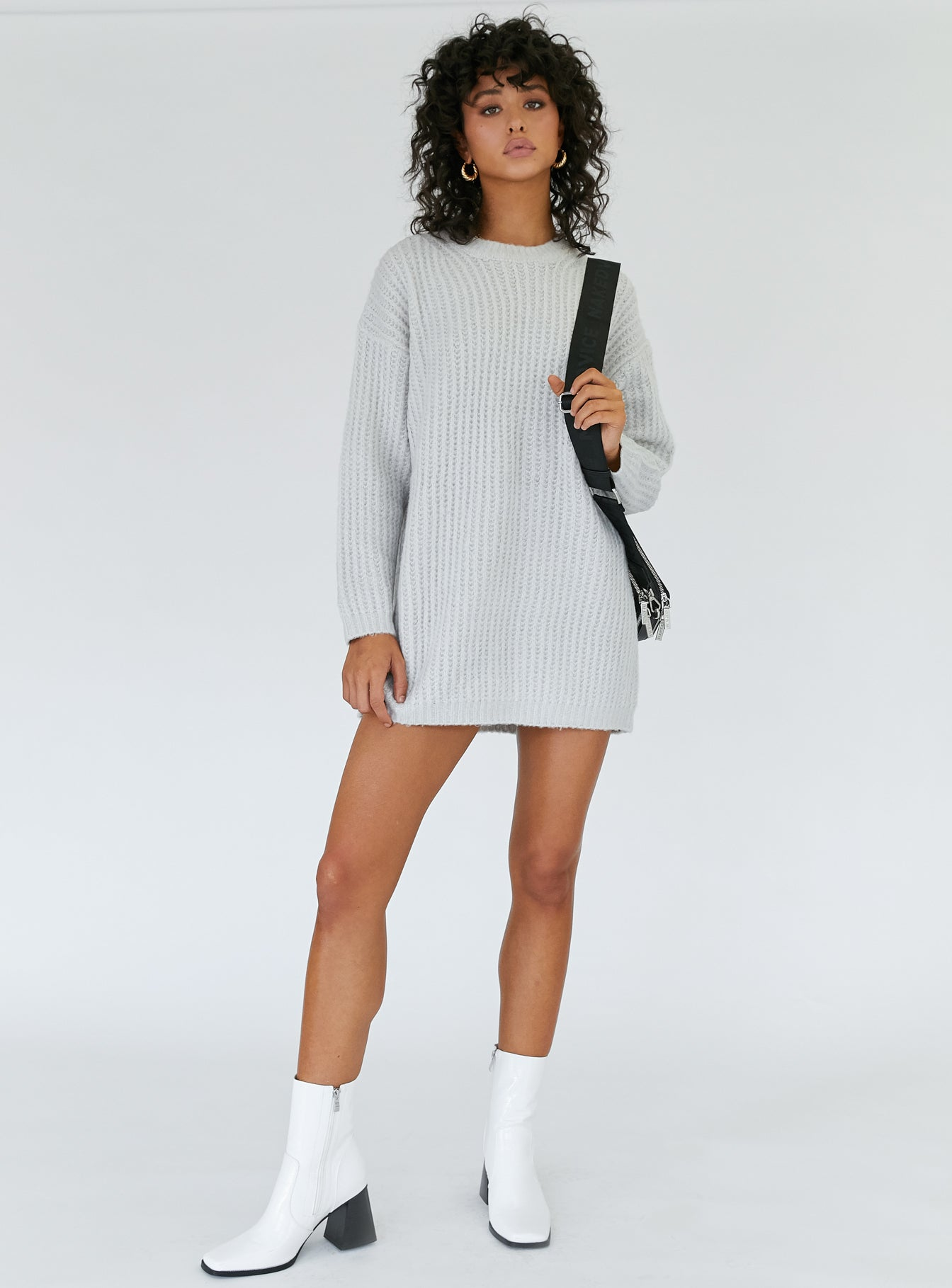 Lucy Mini Dress Grey