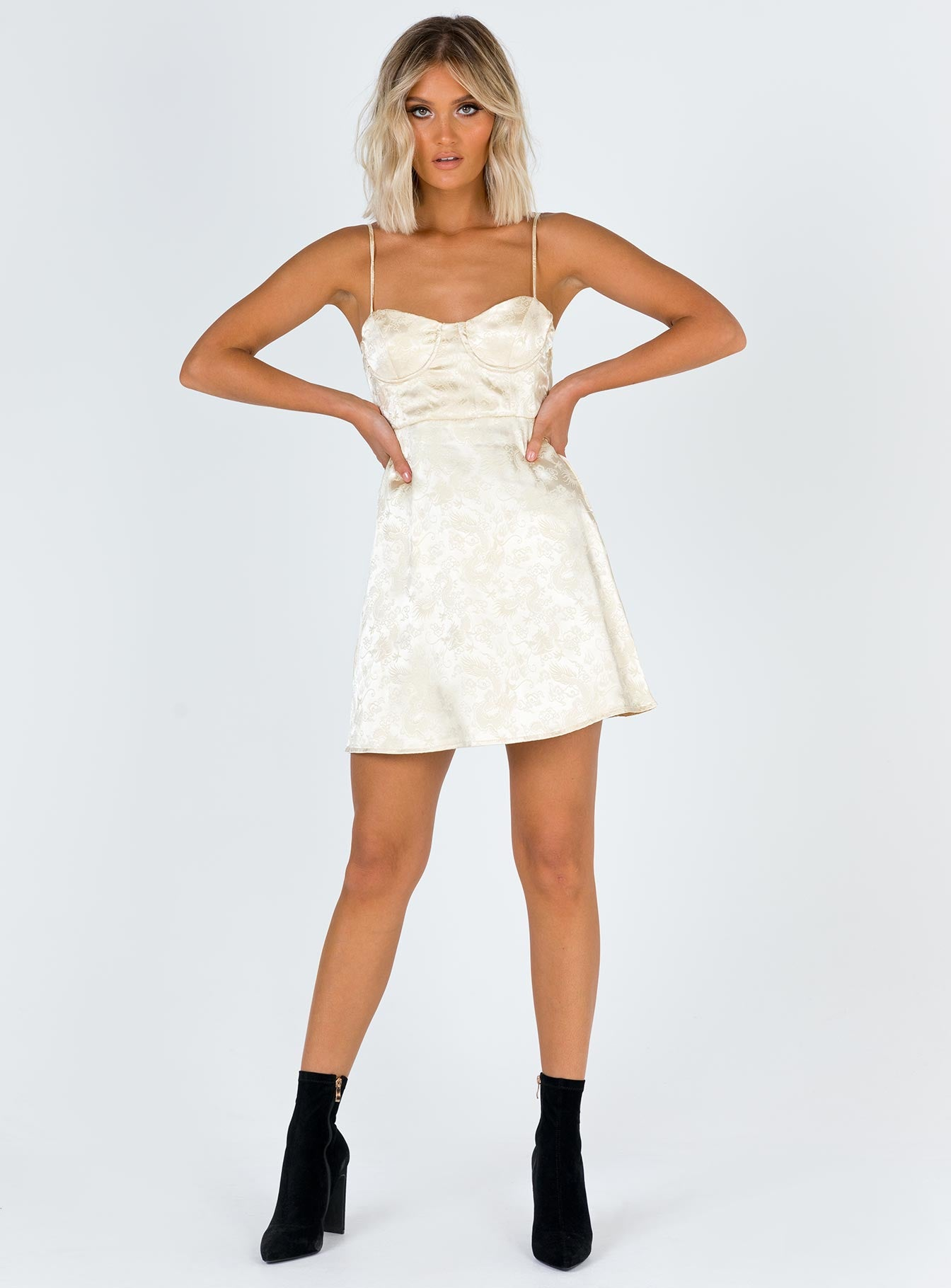 Champagne Pop Mini Dress