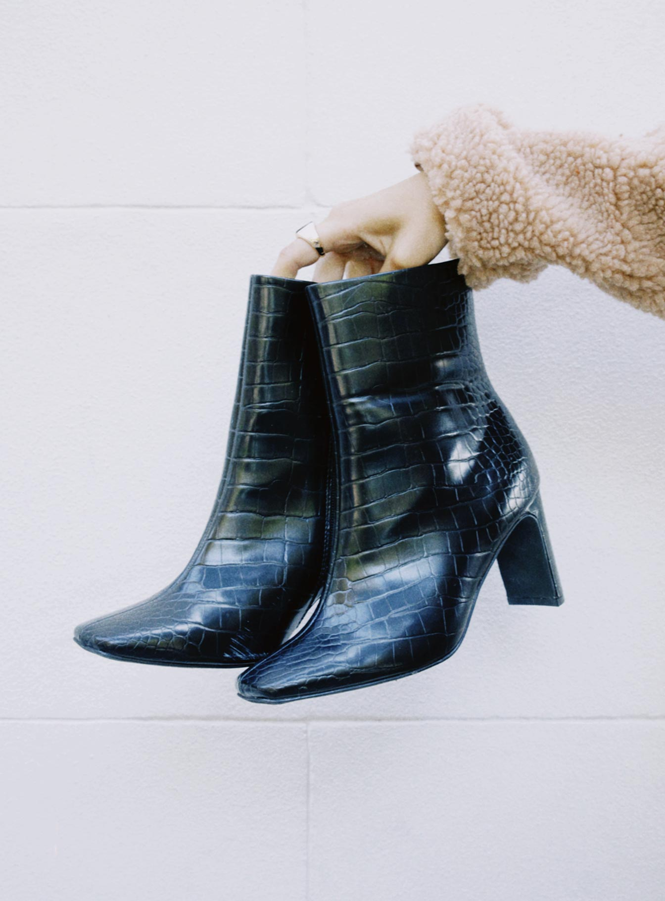 Therapy Effie Black Croc Boots