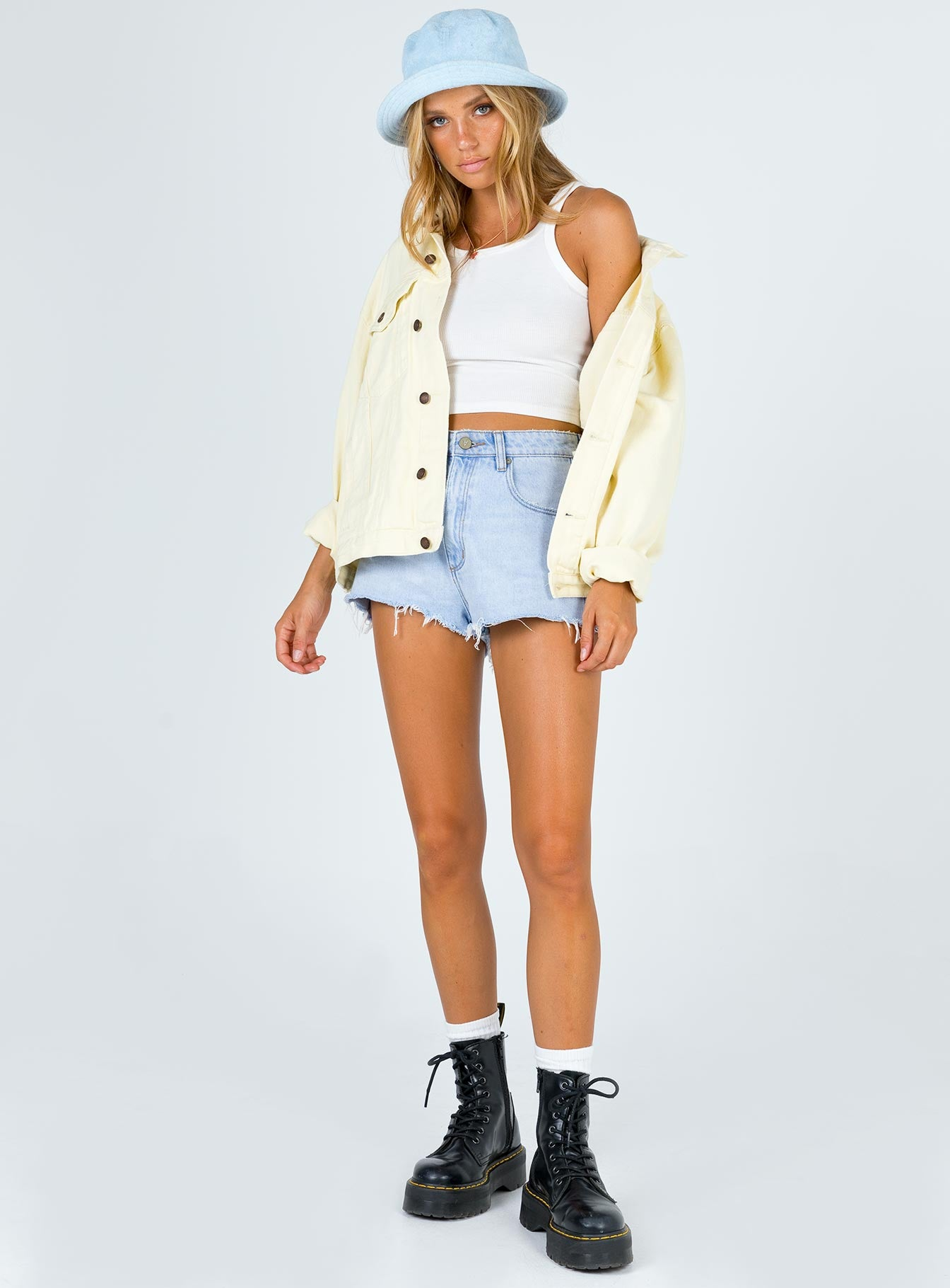 Western Denim Jacket Yellow