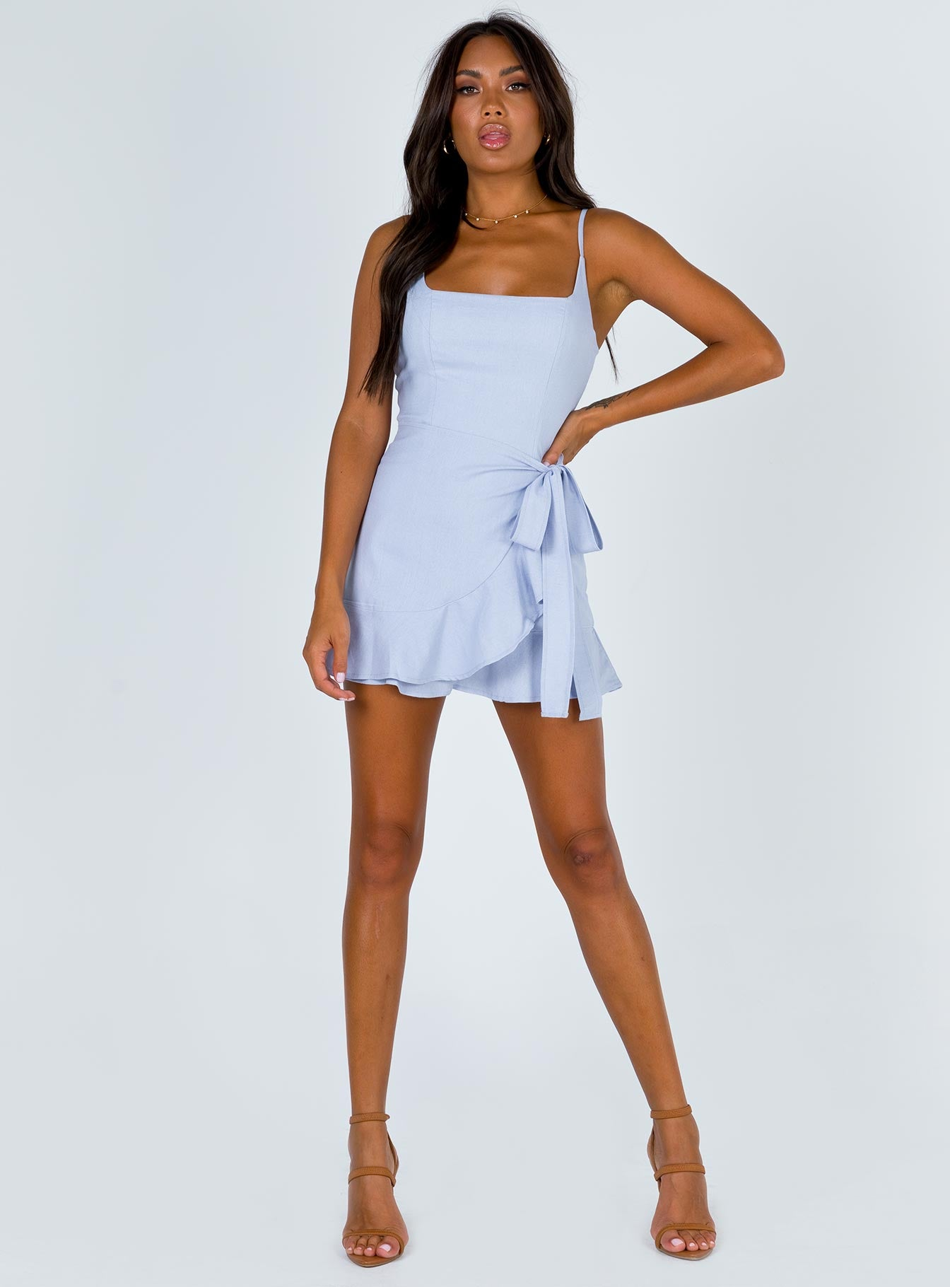 Cottage Hill Mini Dress Baby Blue