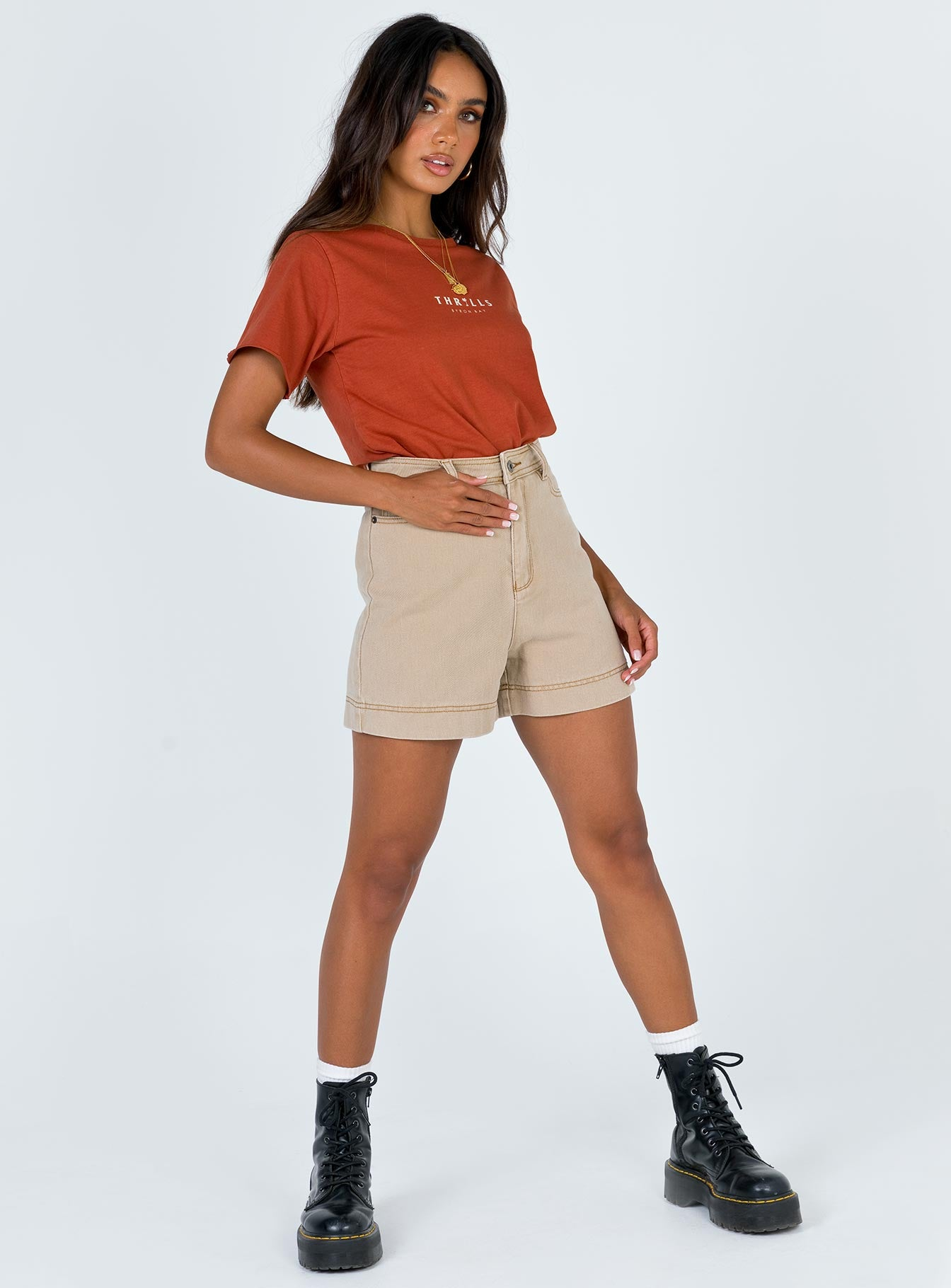 Thrills Palmed Thrills Loose Fit Tee Rocker Red