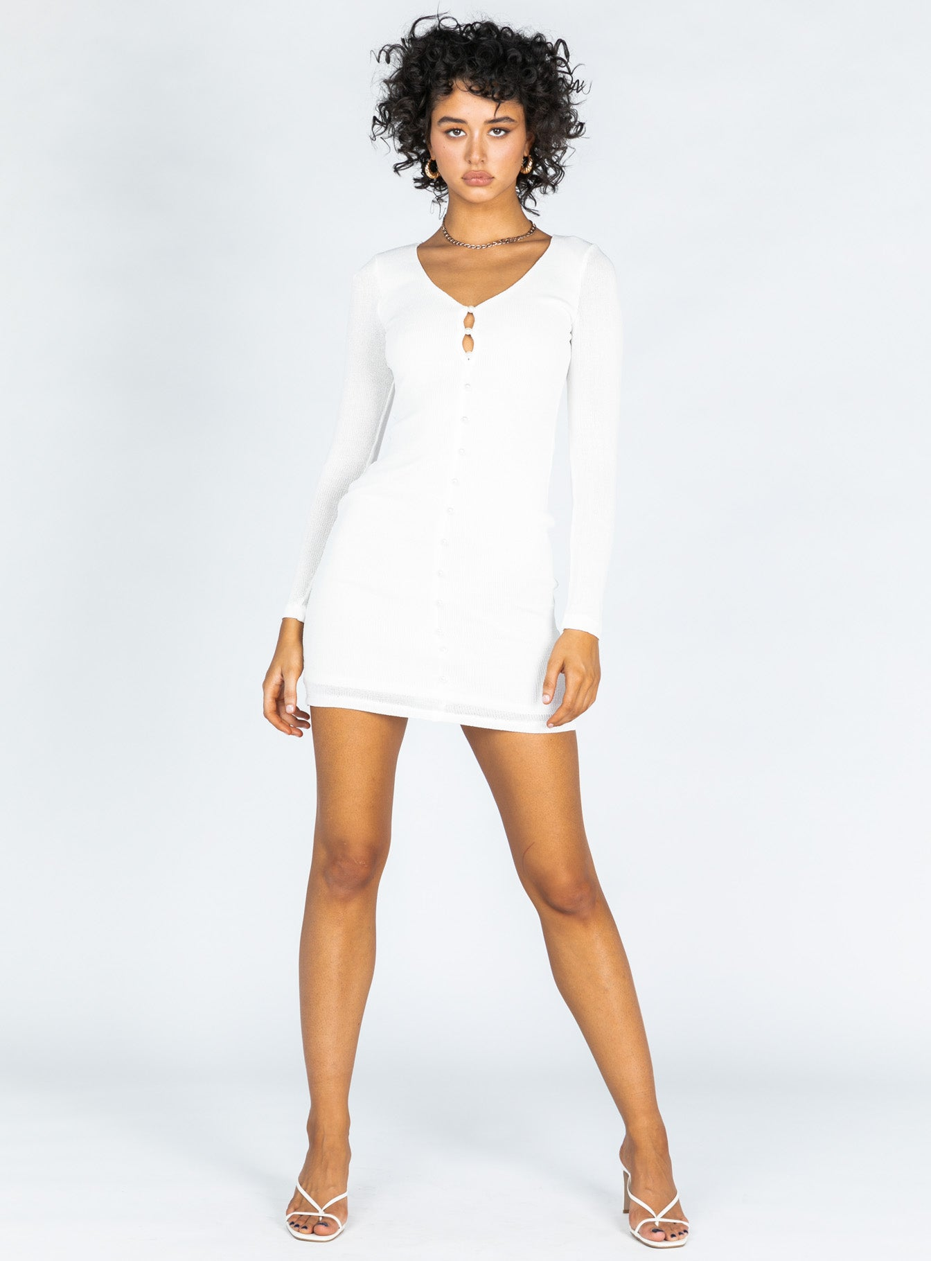 Saturn Mini Dress White
