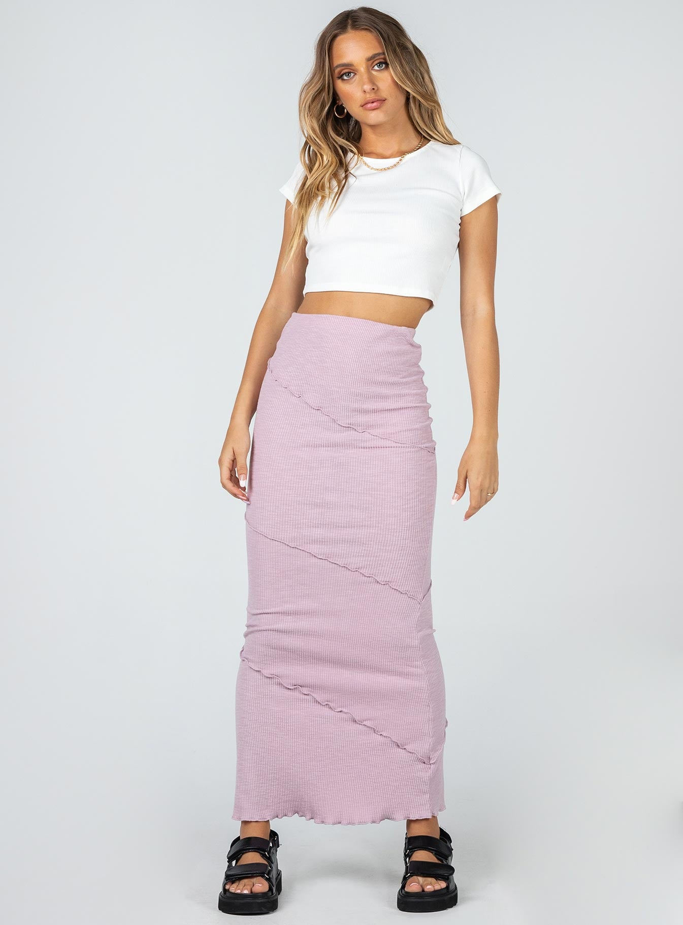 Oscar Maxi Skirt Purple