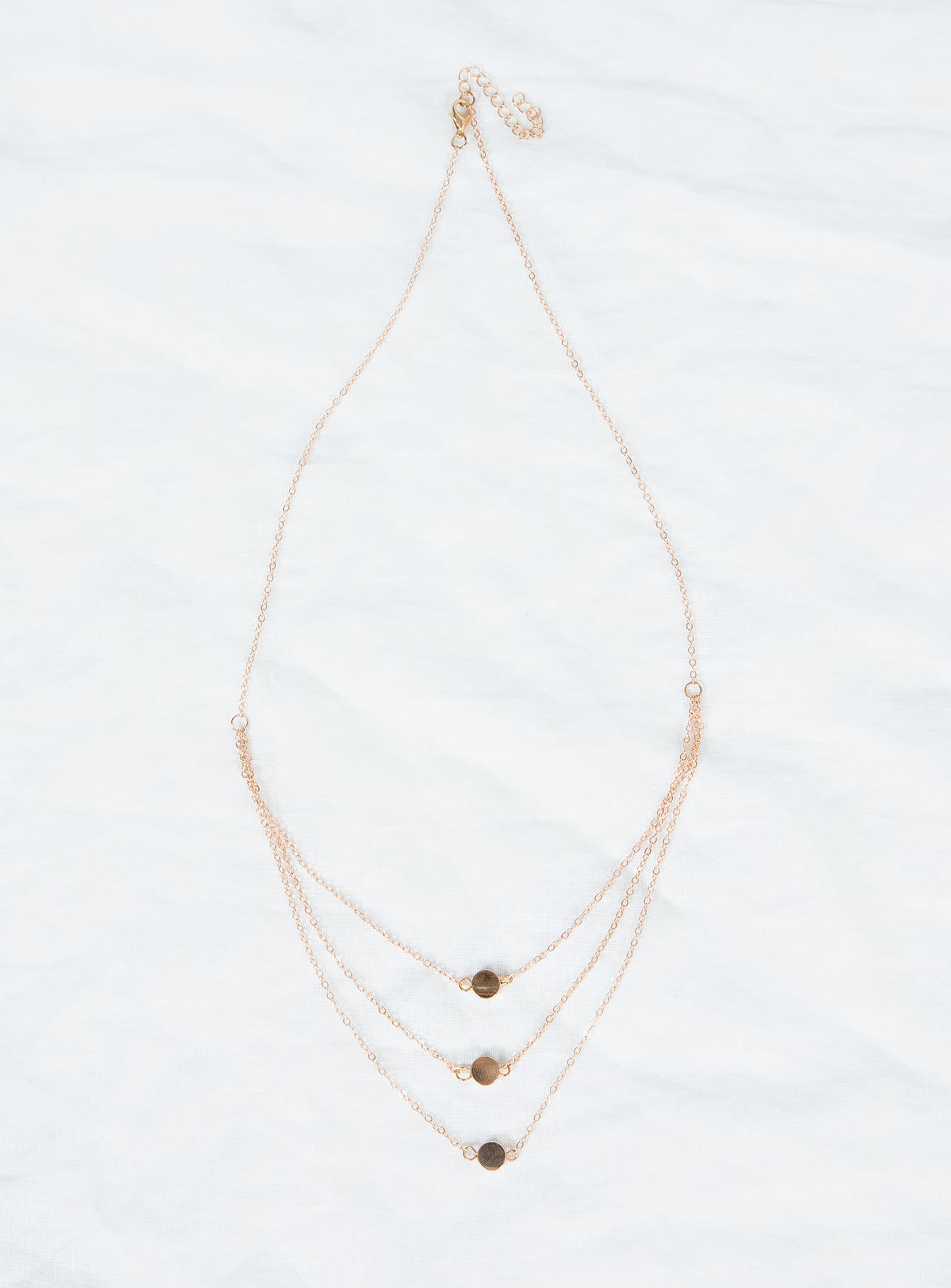 Three Sisters Layered Dainty Necklace