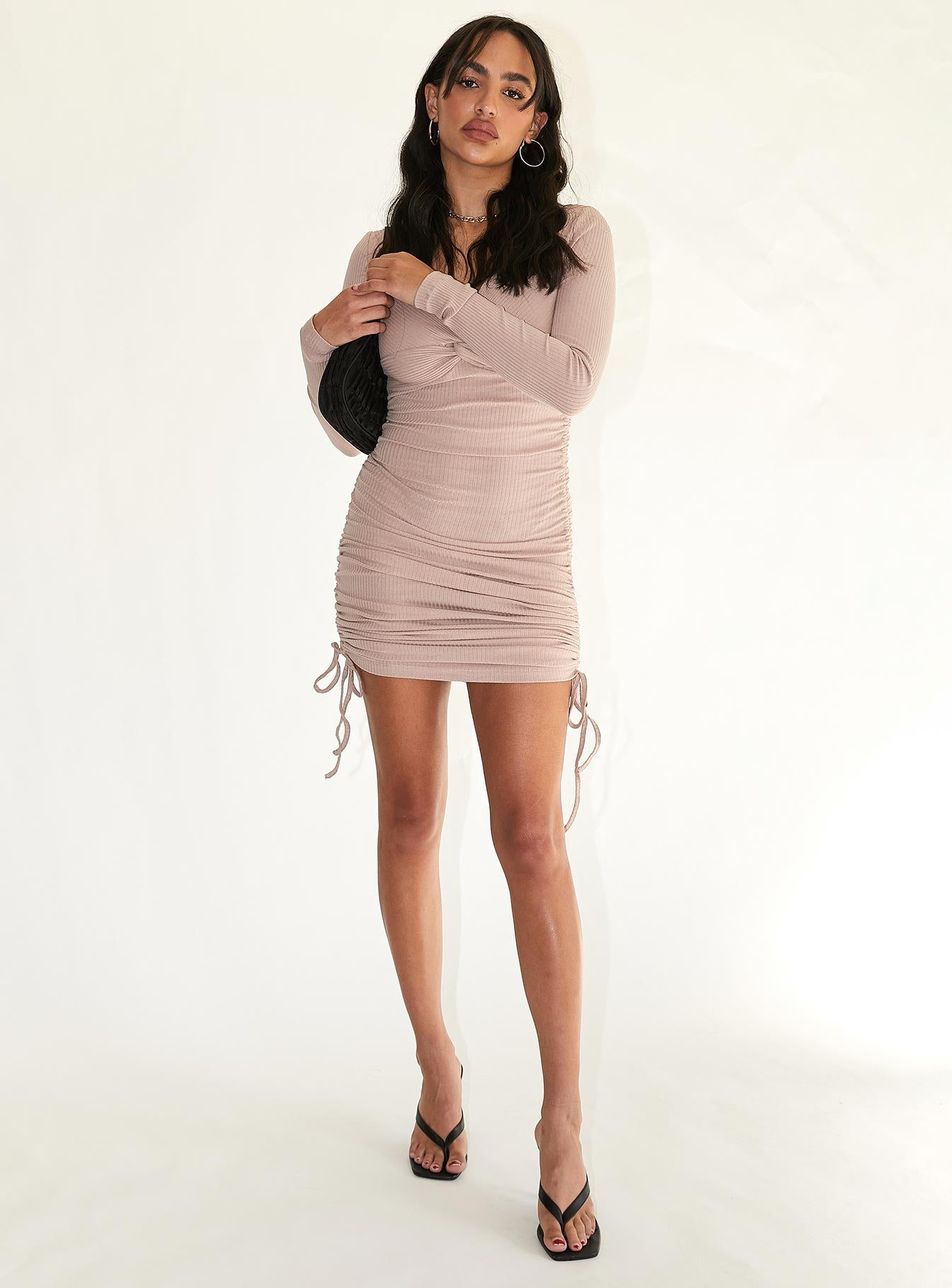 Gina Mini Dress Beige