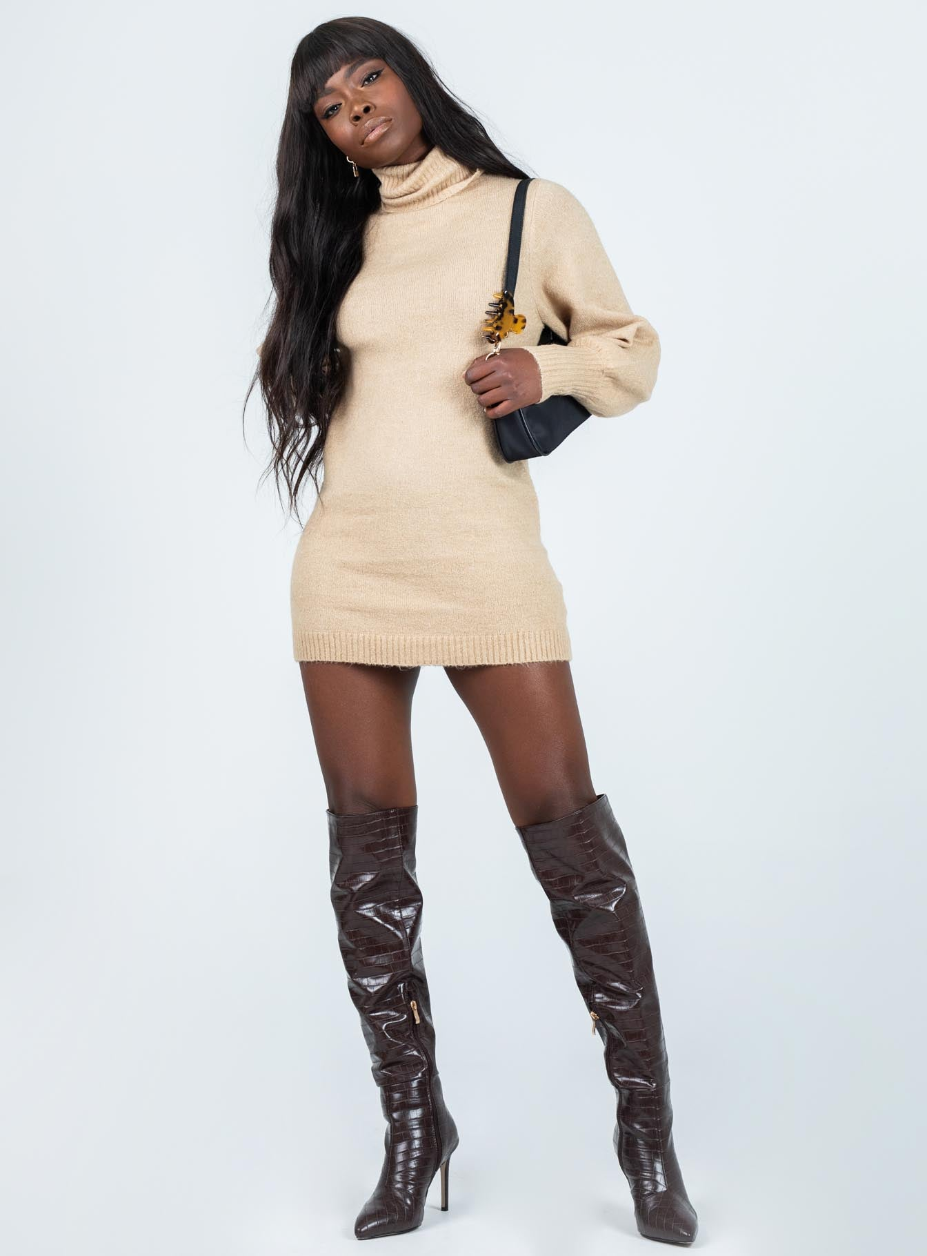 Zahara Mini Dress Beige