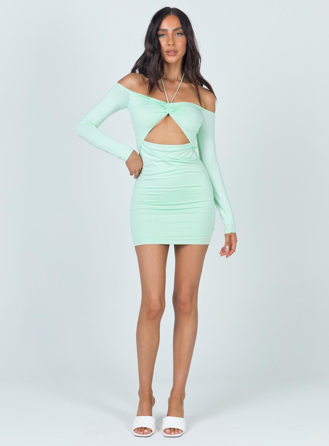 Taylor Mini Dress Pistachio