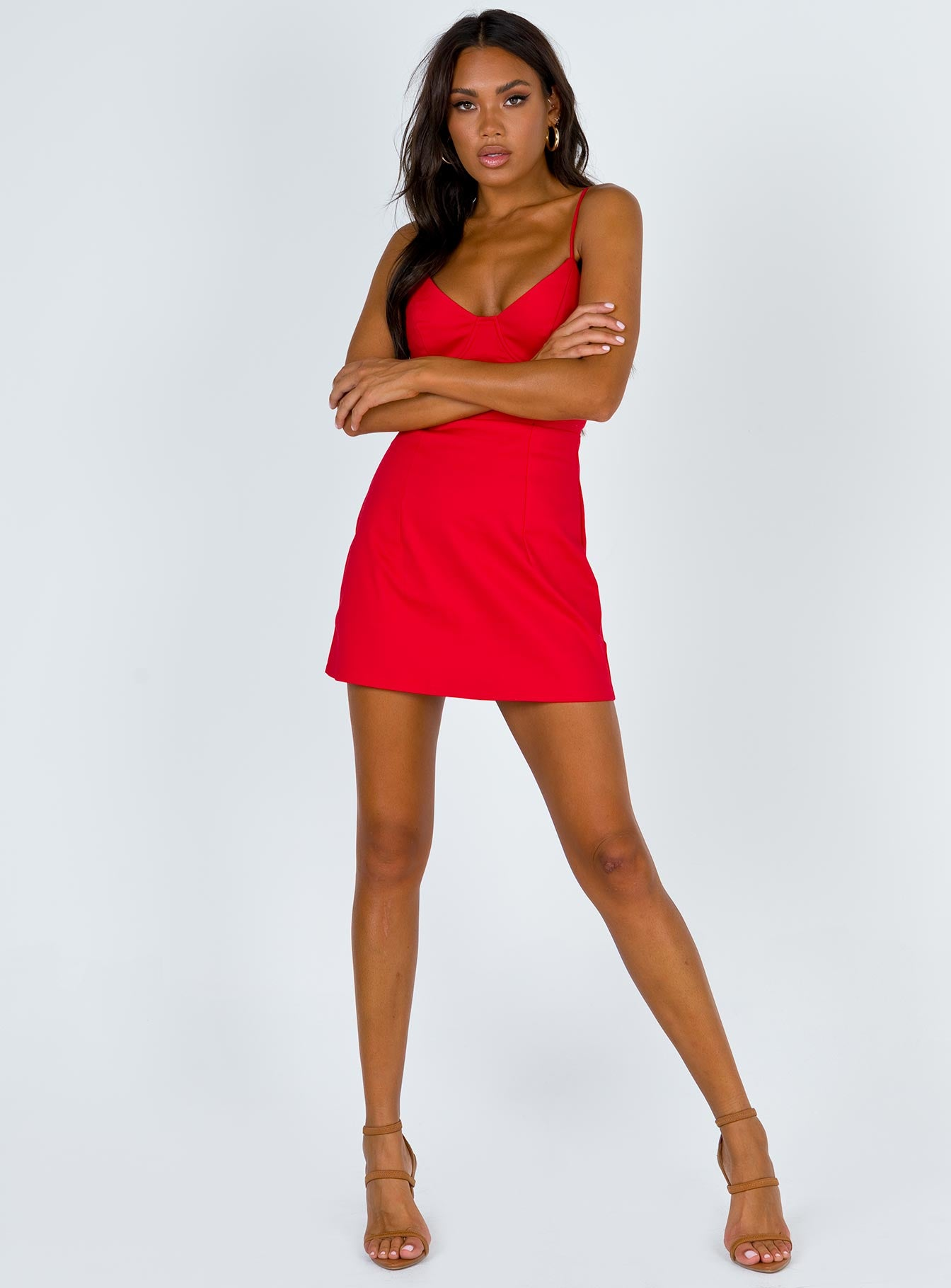 Novella Mini Dress Red