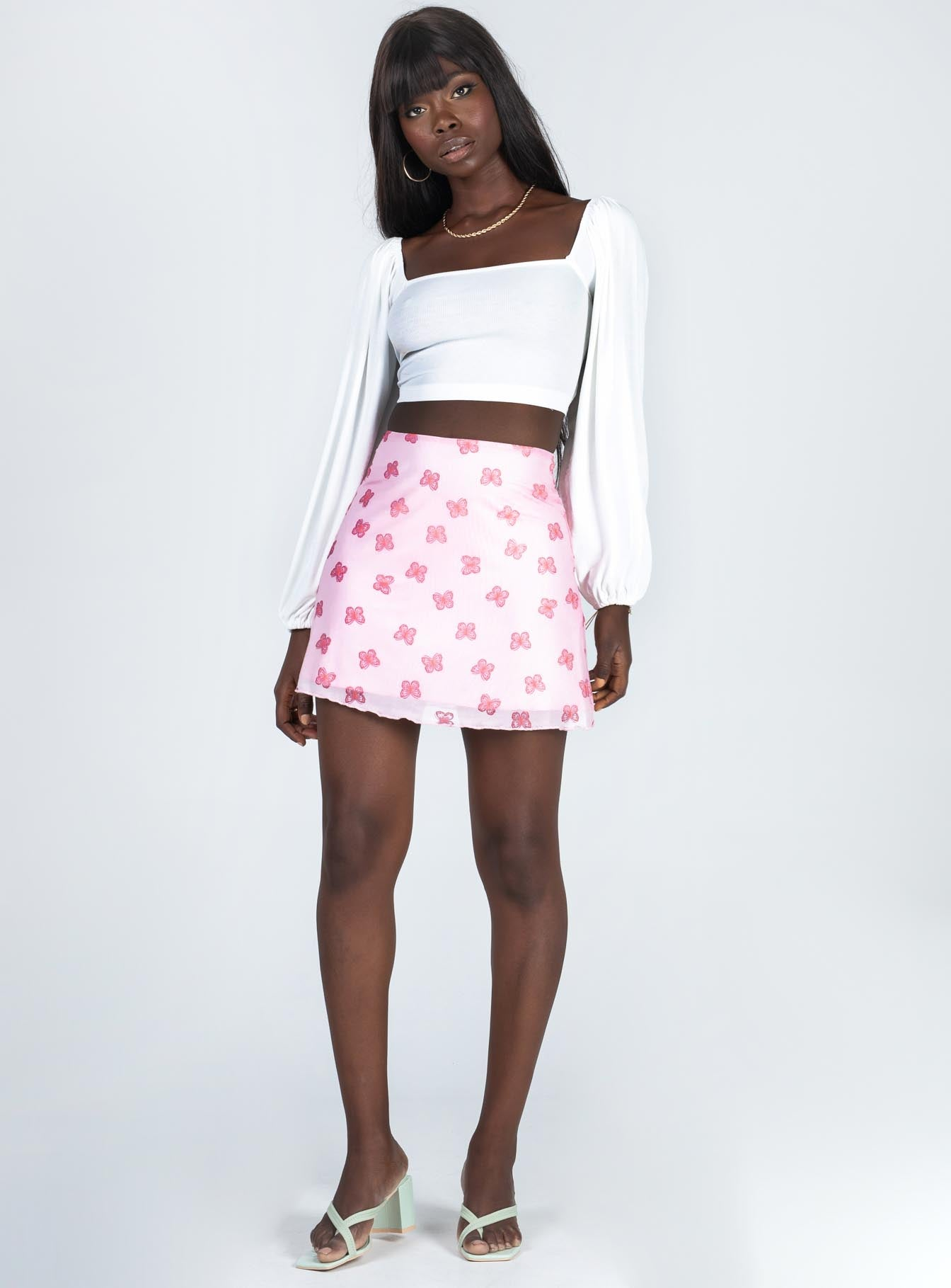 Flutter Mini Skirt Pink