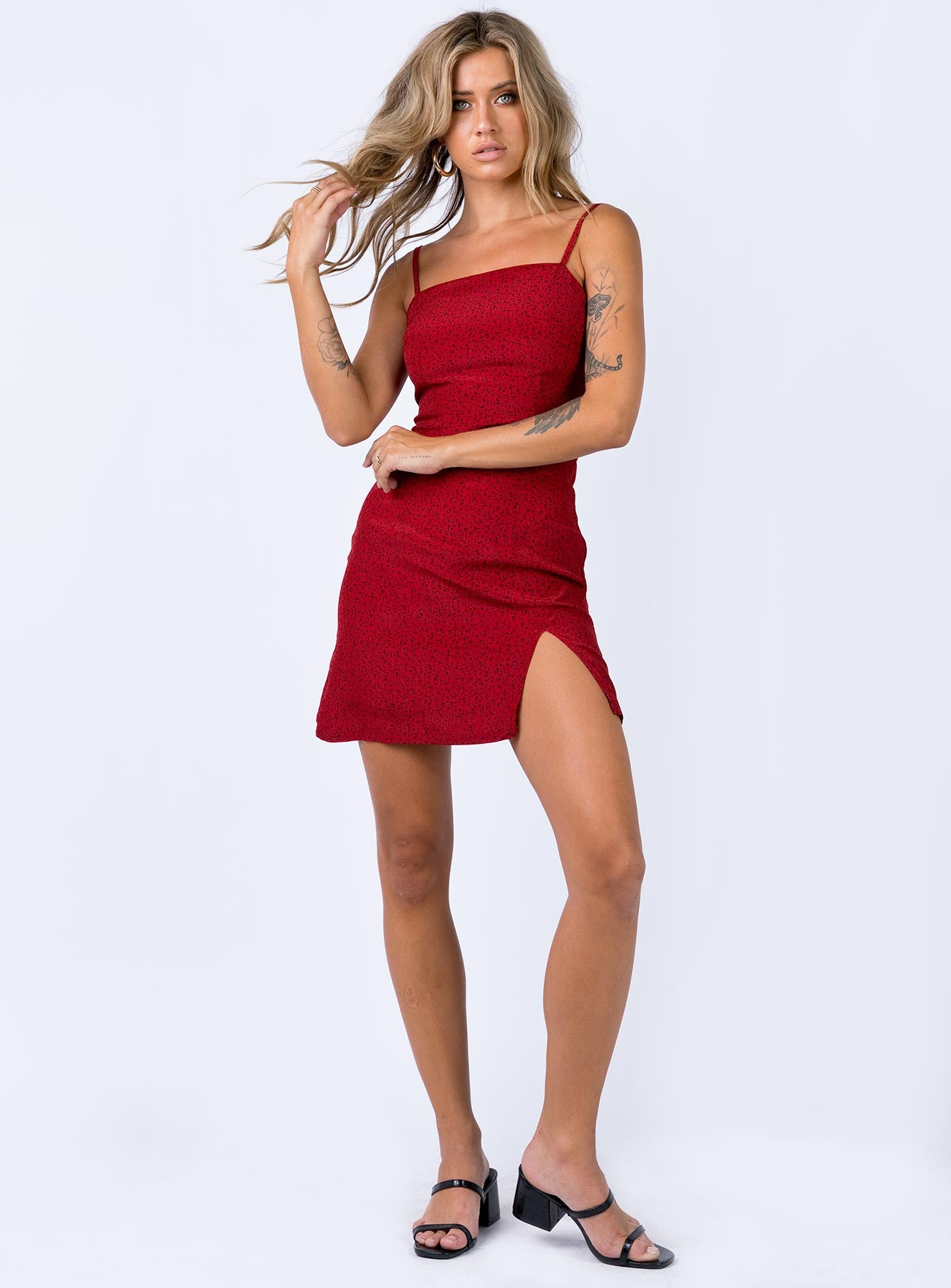 Hague Mini Dress Red Print