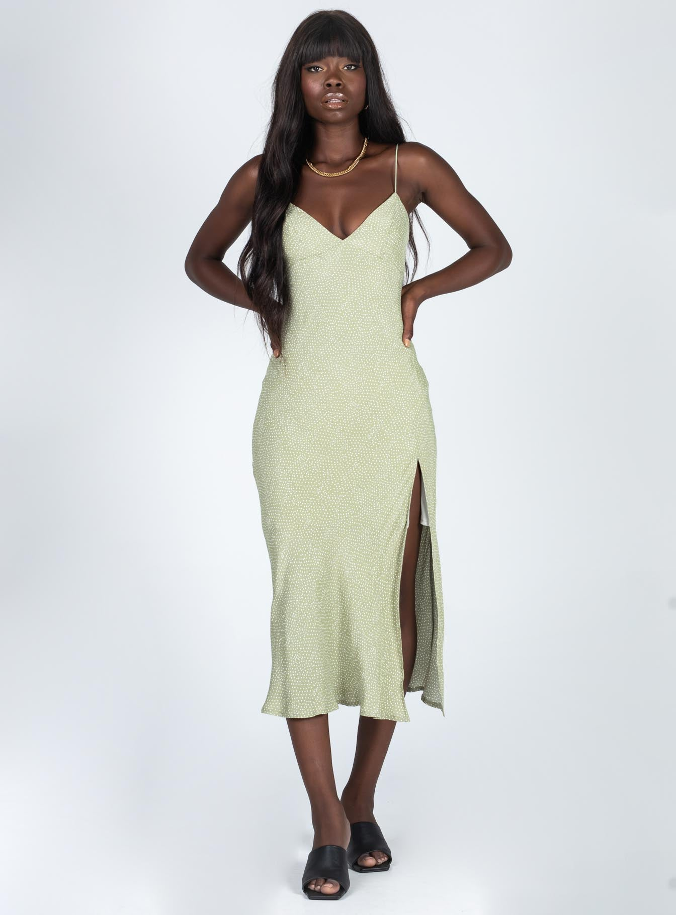 Allou Midi Dress Green