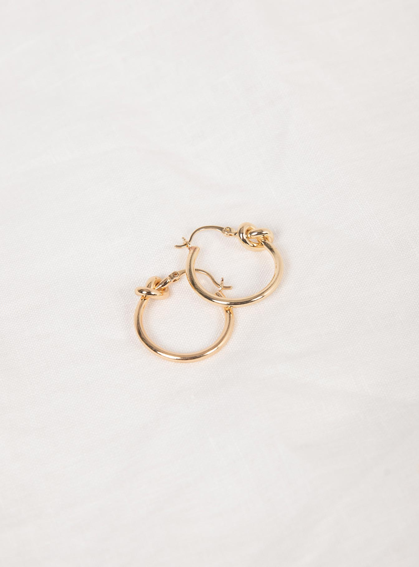 Knotted Gold Hoops