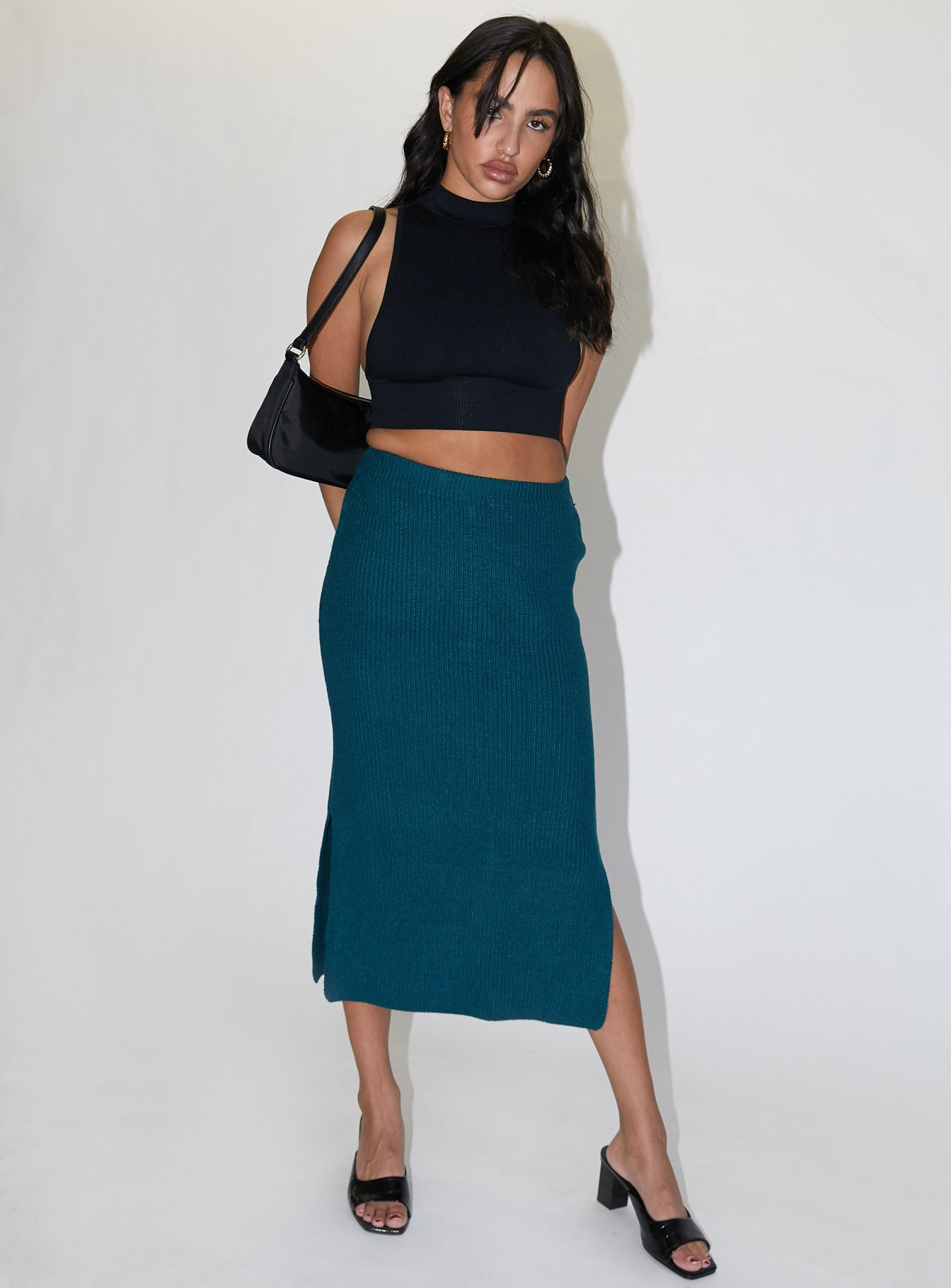 Zanna Midi Skirt Teal