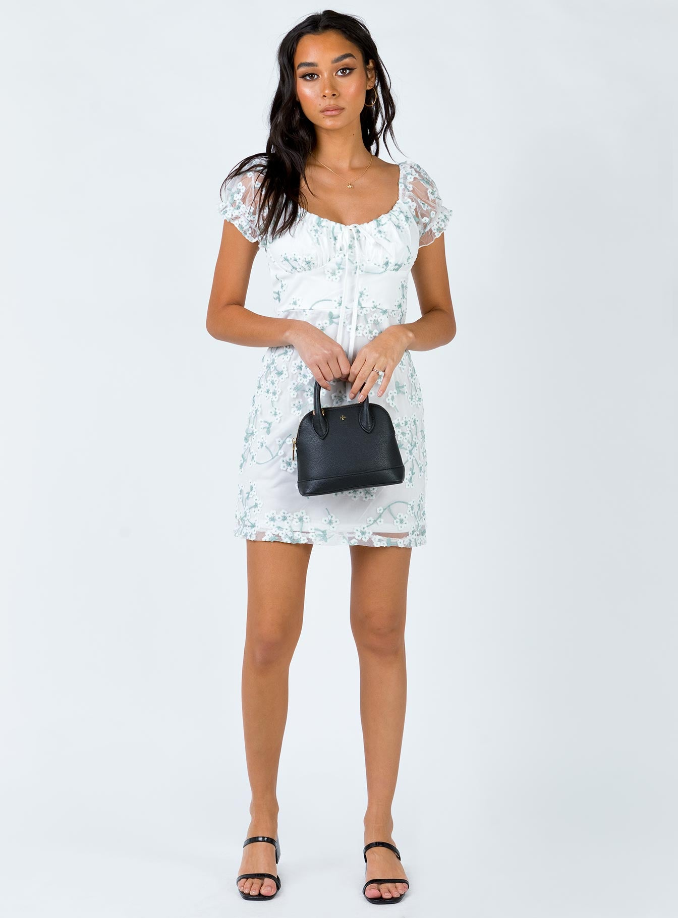 Caleigh Mini Dress White Floral