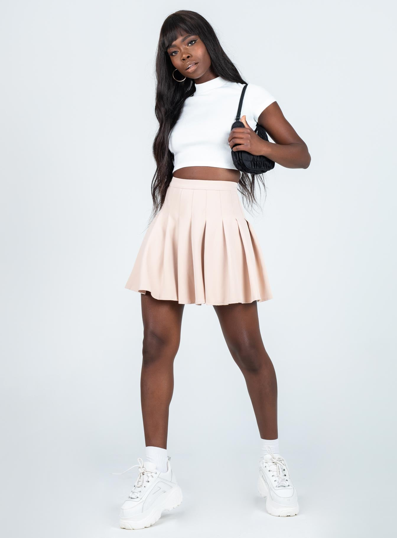 Lucid Mini Skirt Beige