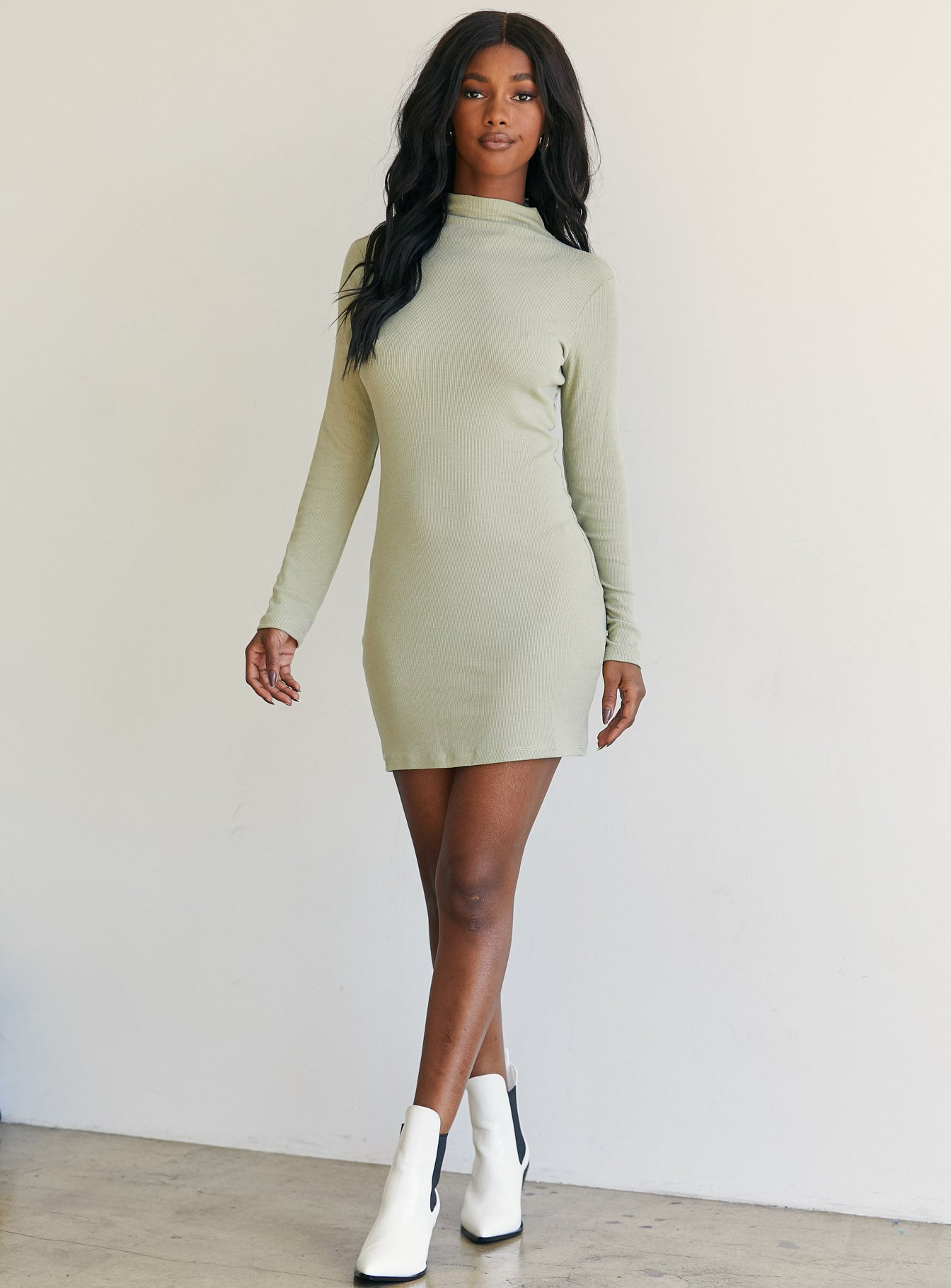Kaitlyn Mini Dress Khaki