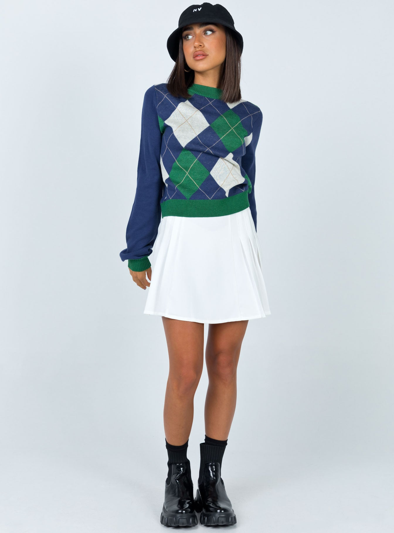 Penny Argyle Cropped Sweater Multi
