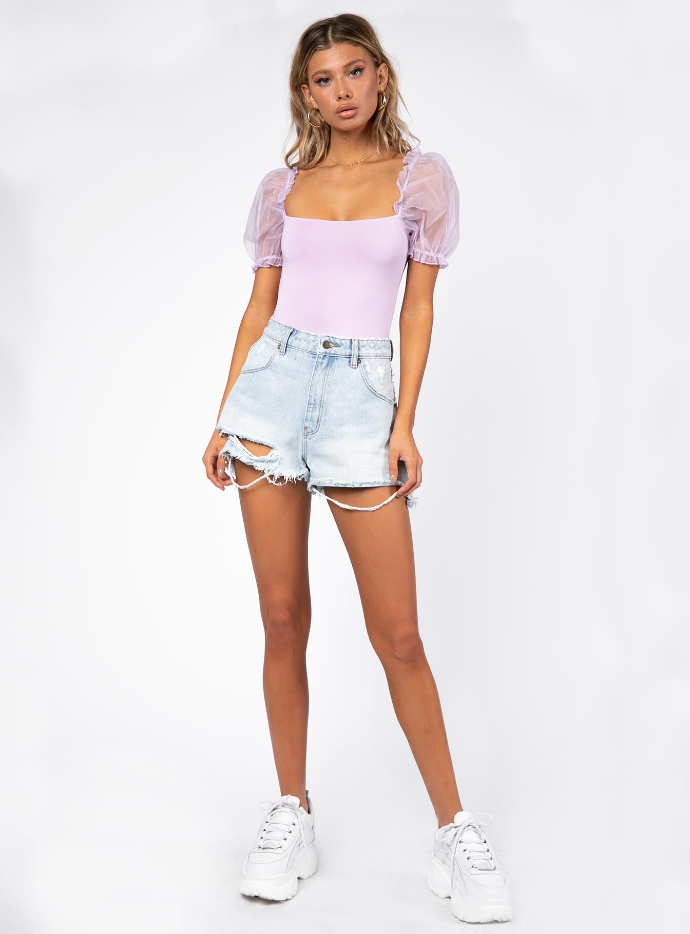 Girl In Love Bodysuit Lilac