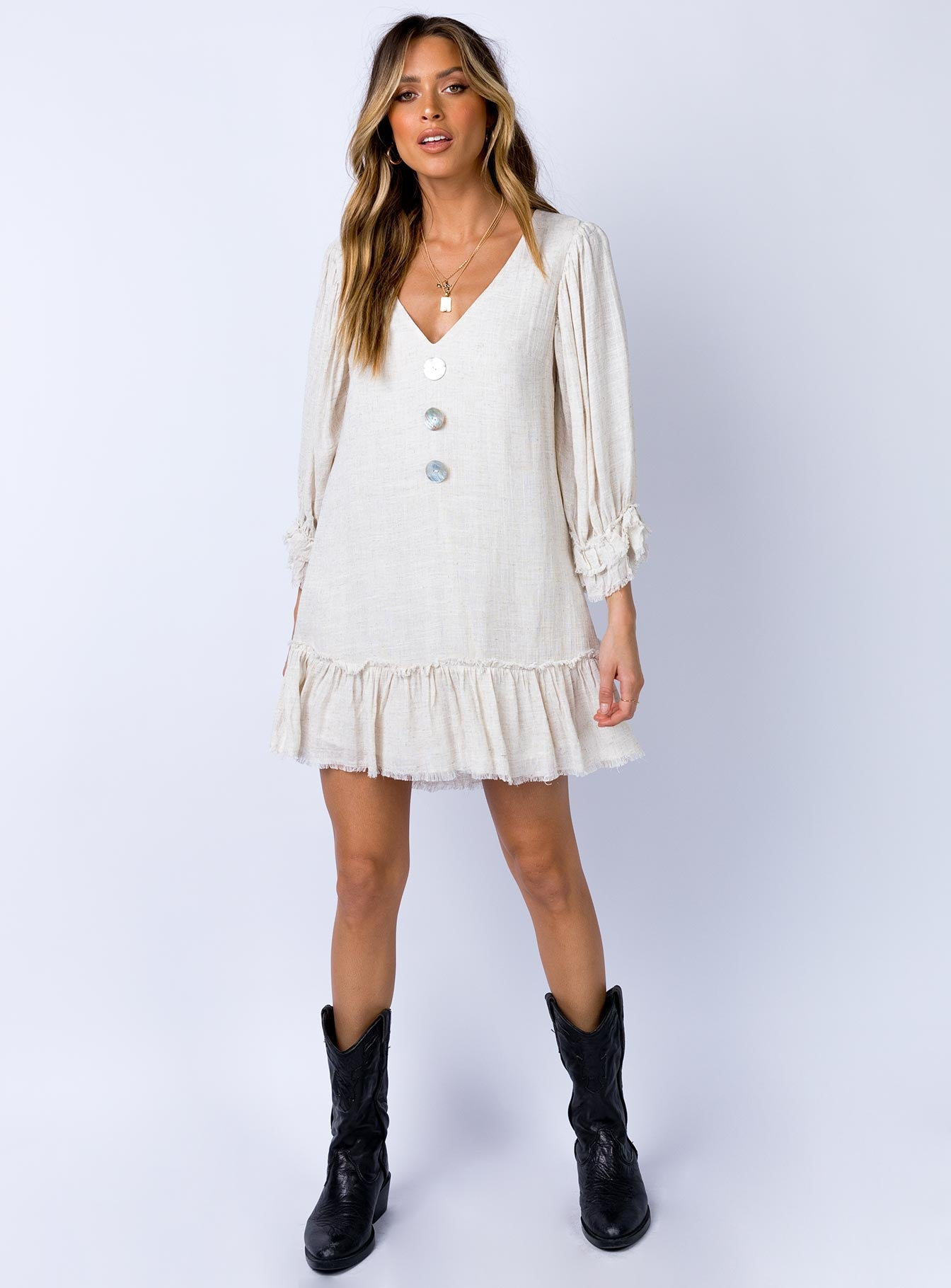 Mullewa Mini Dress Natural