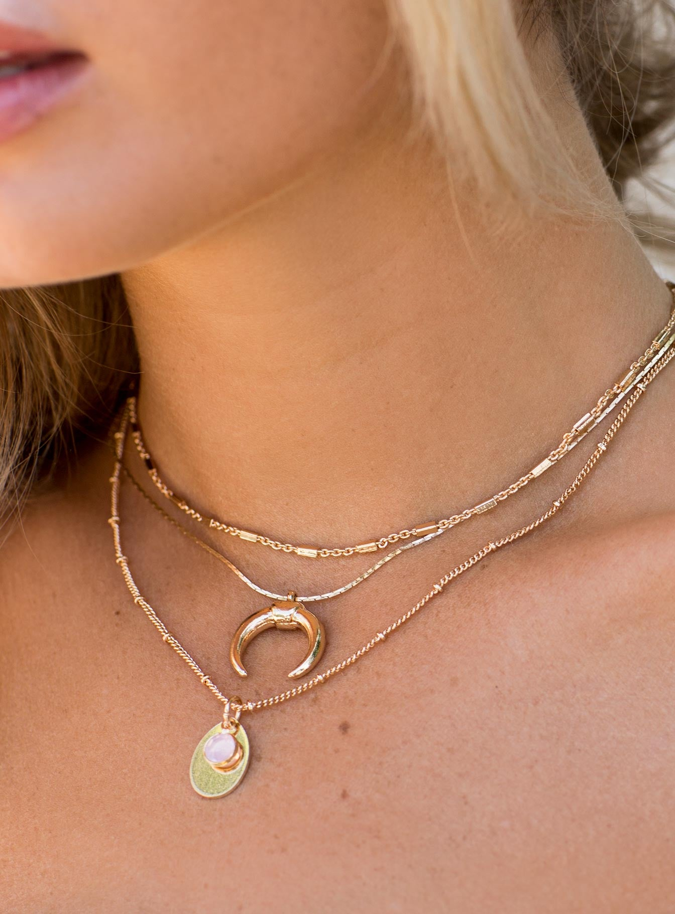 Ethereal Choker Set Gold