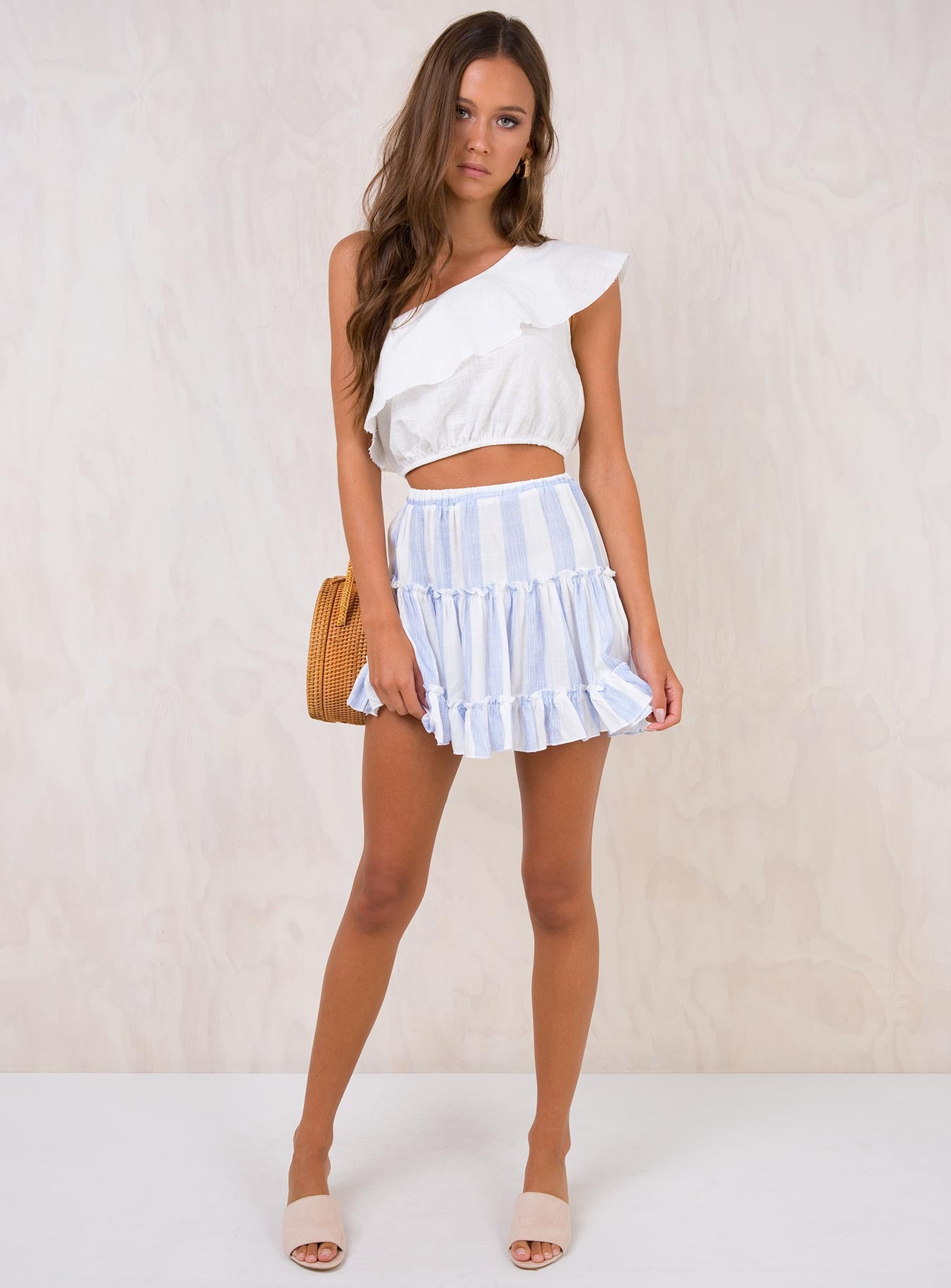 Salt Water Mini Skirt White/Blue