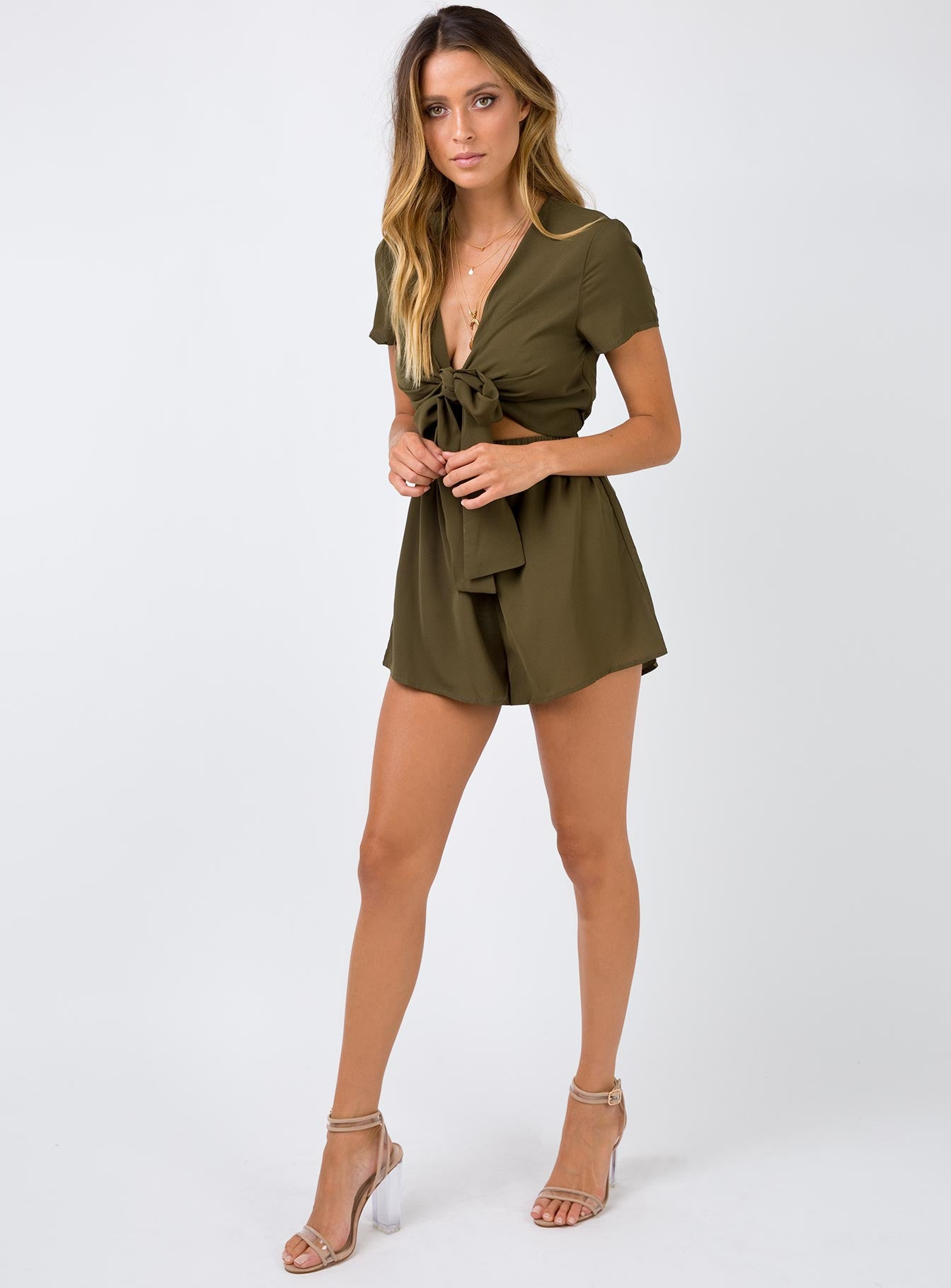 Pure Rhythm Playsuit Khaki