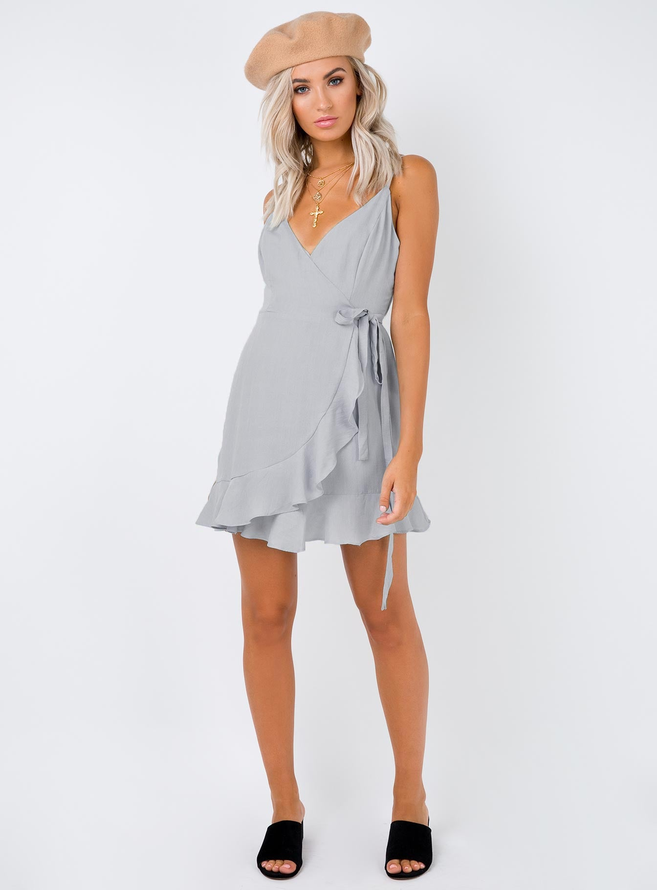Some Kinda Secret Mini Dress Grey