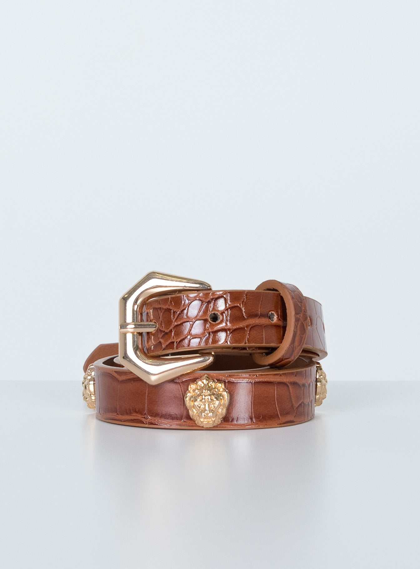 Versus Belt Brown Croc