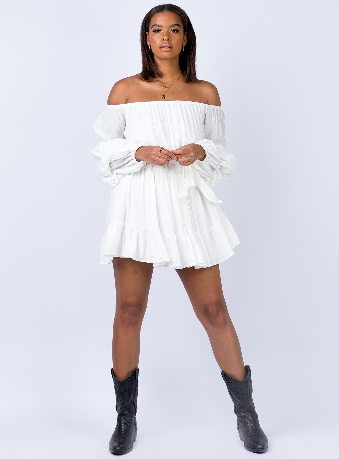 Kelda Mini Dress White