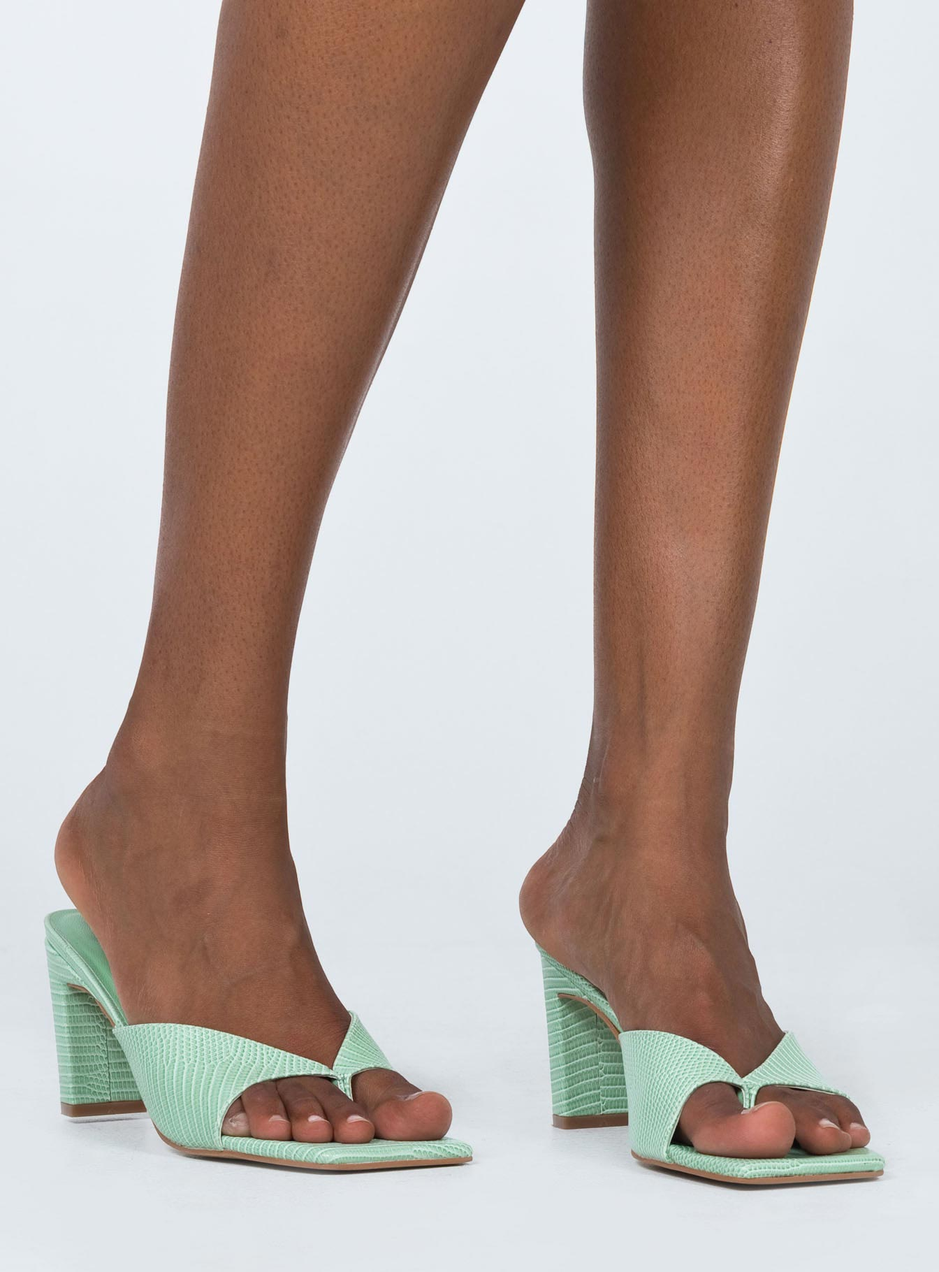 True Love Heels Green Croc