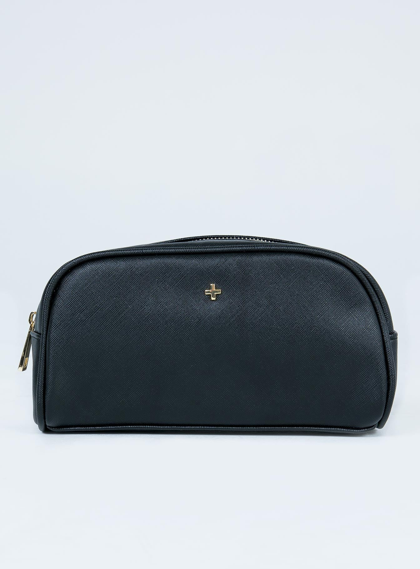 Peta & Jain Suki Black Saffiano Make-Up Bag