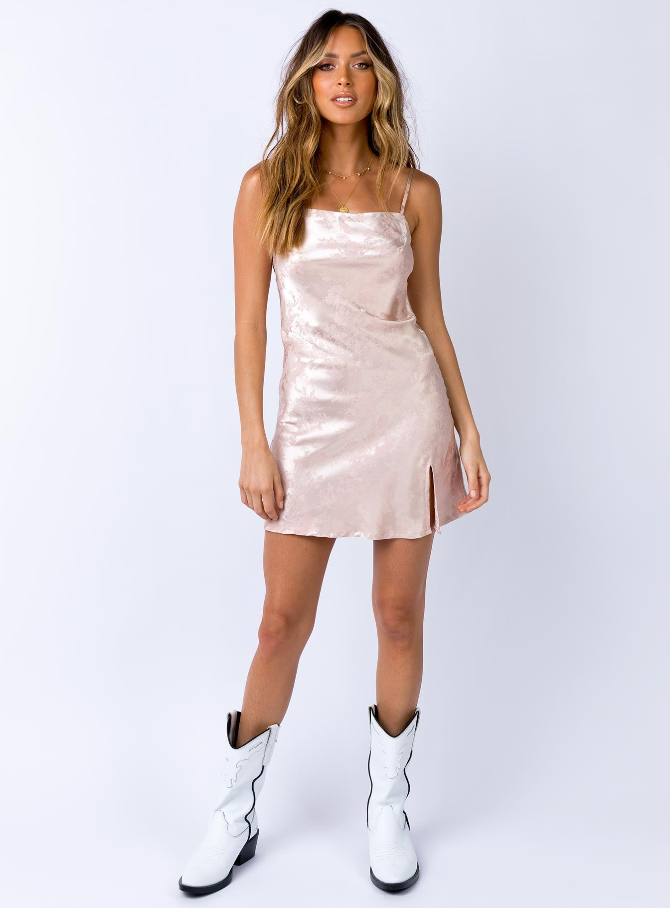 Norman Mini Dress Champagne
