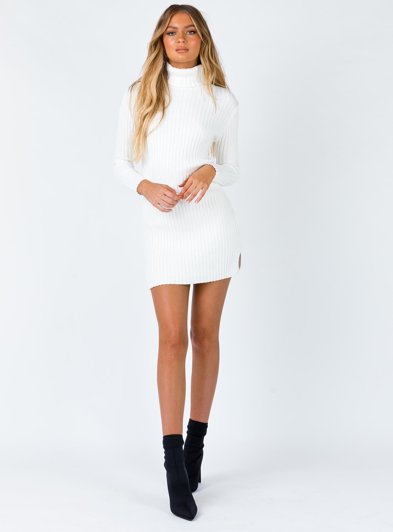 June Mini Dress White