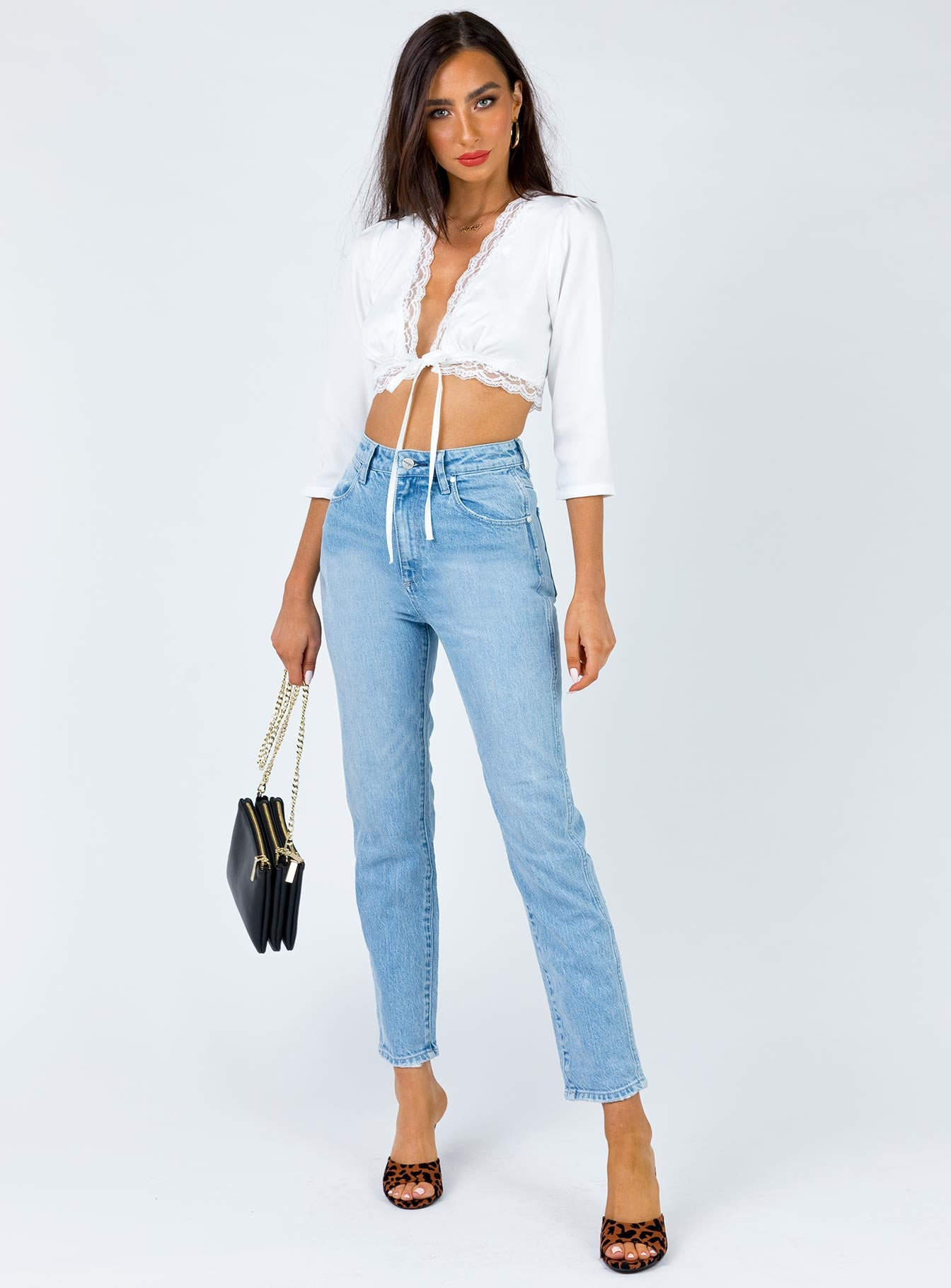 Zena Crop Top White