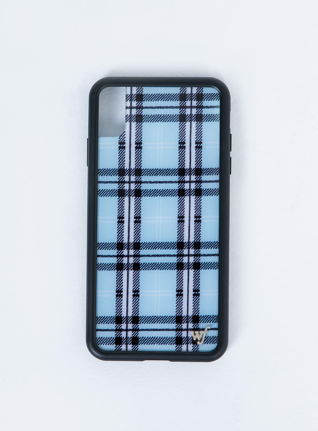 Wildflower Blue Plaid iPhone XS Max Case