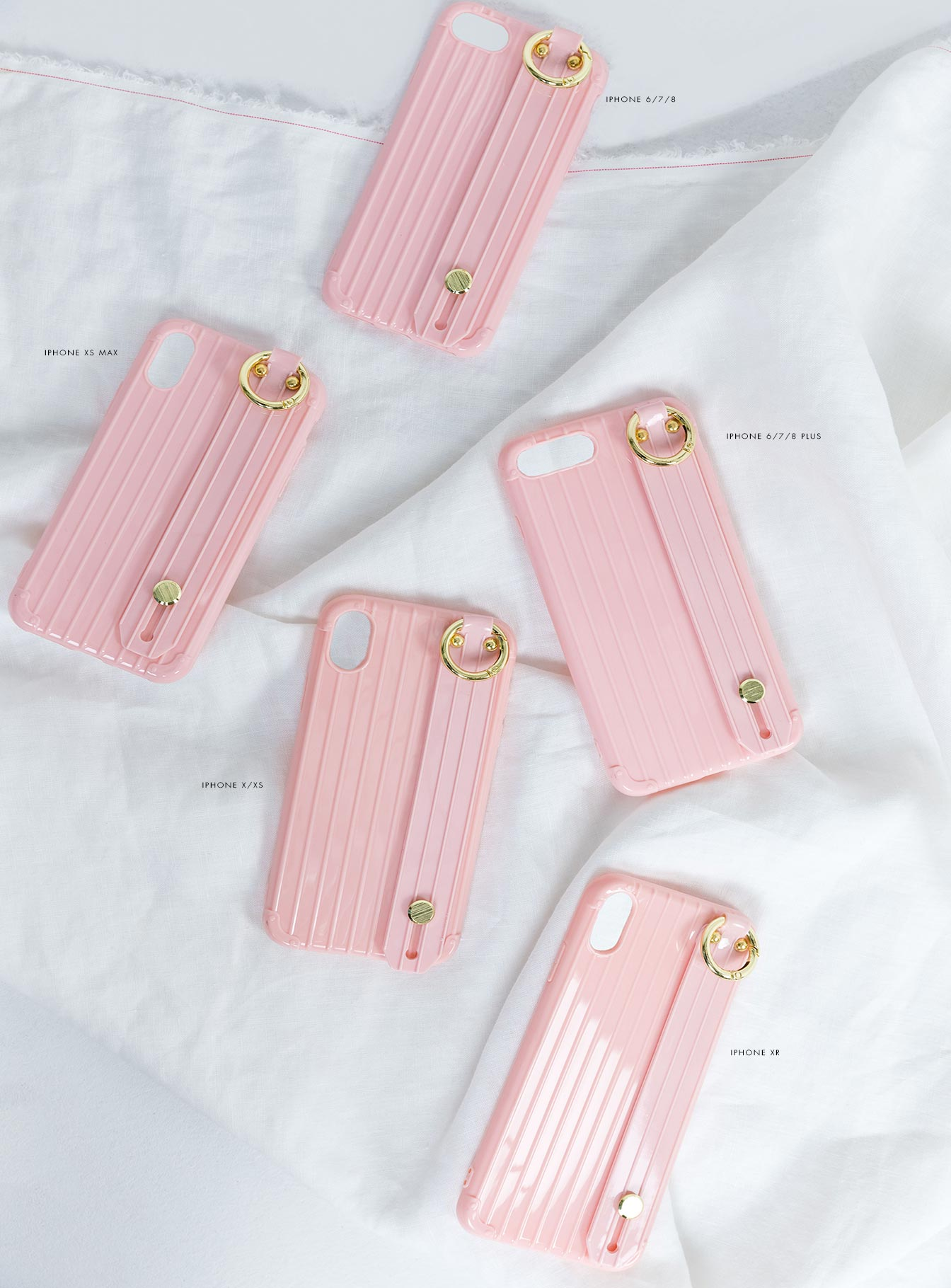 Hold On Girl iPhone Case Pink