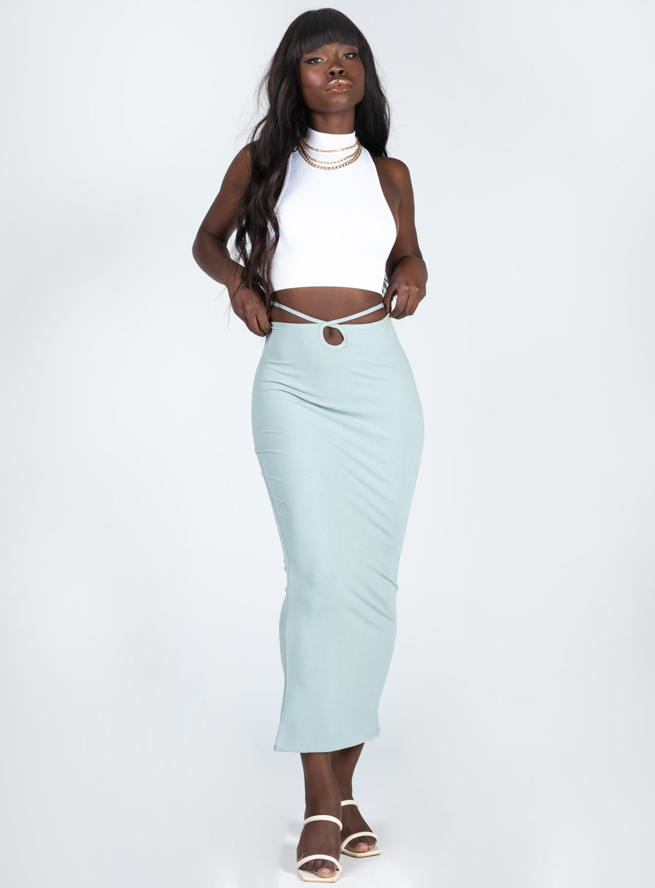 Sloan Midi Skirt Green